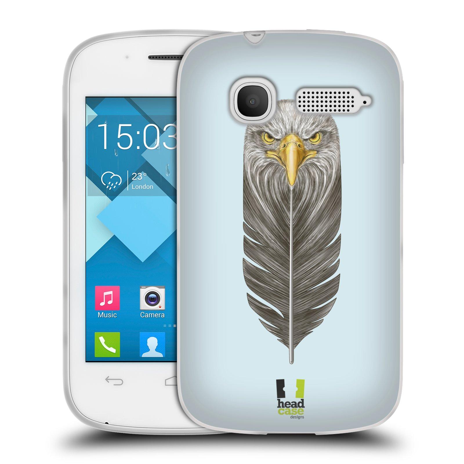 Silikonové pouzdro na mobil Alcatel One Touch Pop C1 HEAD CASE PÍRKO OREL (Silikonový kryt či obal na mobilní telefon Alcatel OT-4015D POP C1)