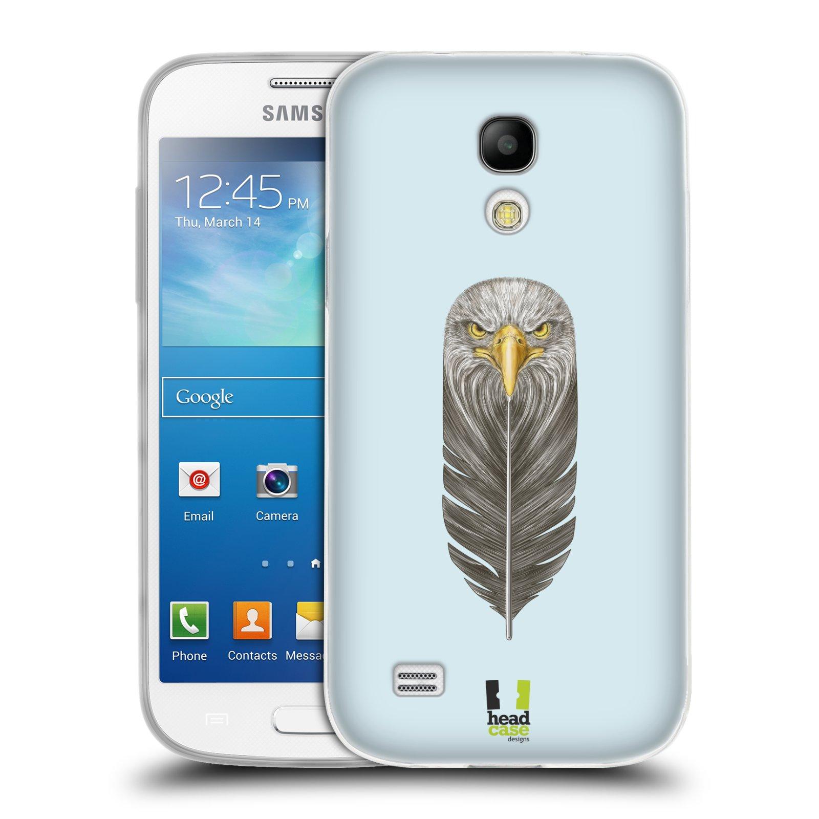Silikonové pouzdro na mobil Samsung Galaxy S4 Mini HEAD CASE PÍRKO OREL (Silikonový kryt či obal na mobilní telefon Samsung Galaxy S4 Mini GT-i9195 / i9190 (nepasuje na verzi Black Edition))