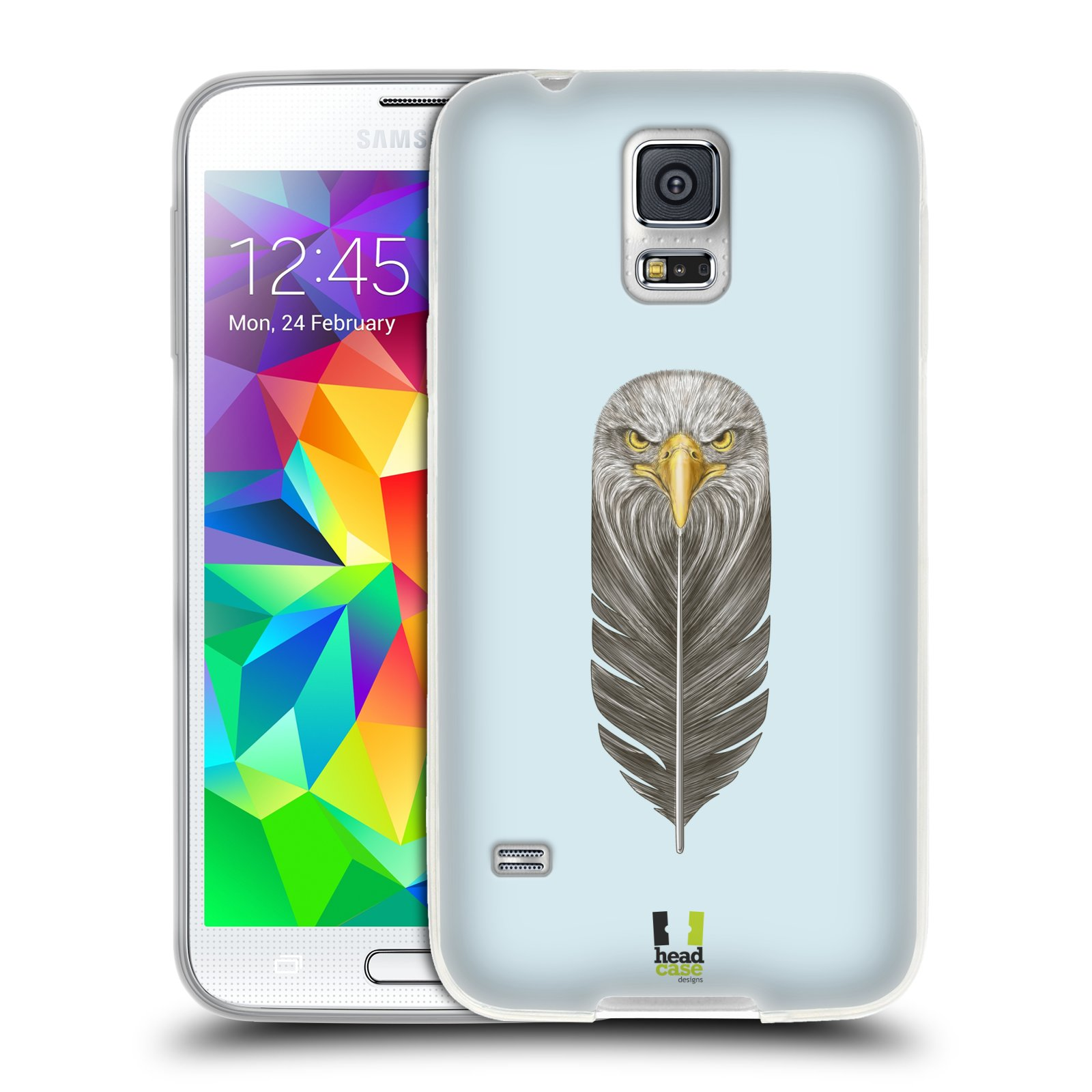 Silikonové pouzdro na mobil Samsung Galaxy S5 HEAD CASE PÍRKO OREL (Silikonový kryt či obal na mobilní telefon Samsung Galaxy S5 SM-G900F)