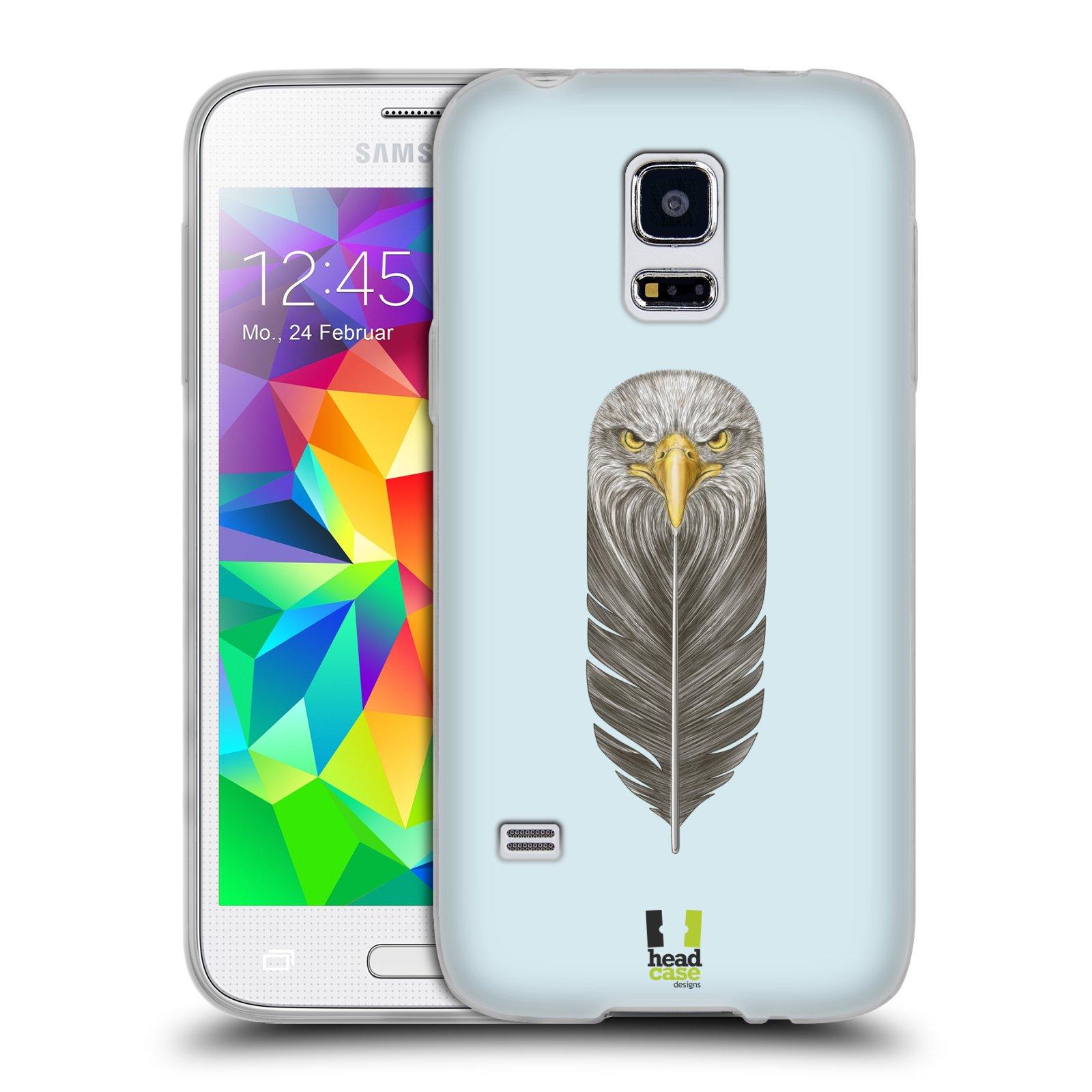 Silikonové pouzdro na mobil Samsung Galaxy S5 Mini HEAD CASE PÍRKO OREL (Silikonový kryt či obal na mobilní telefon Samsung Galaxy S5 Mini SM-G800F)