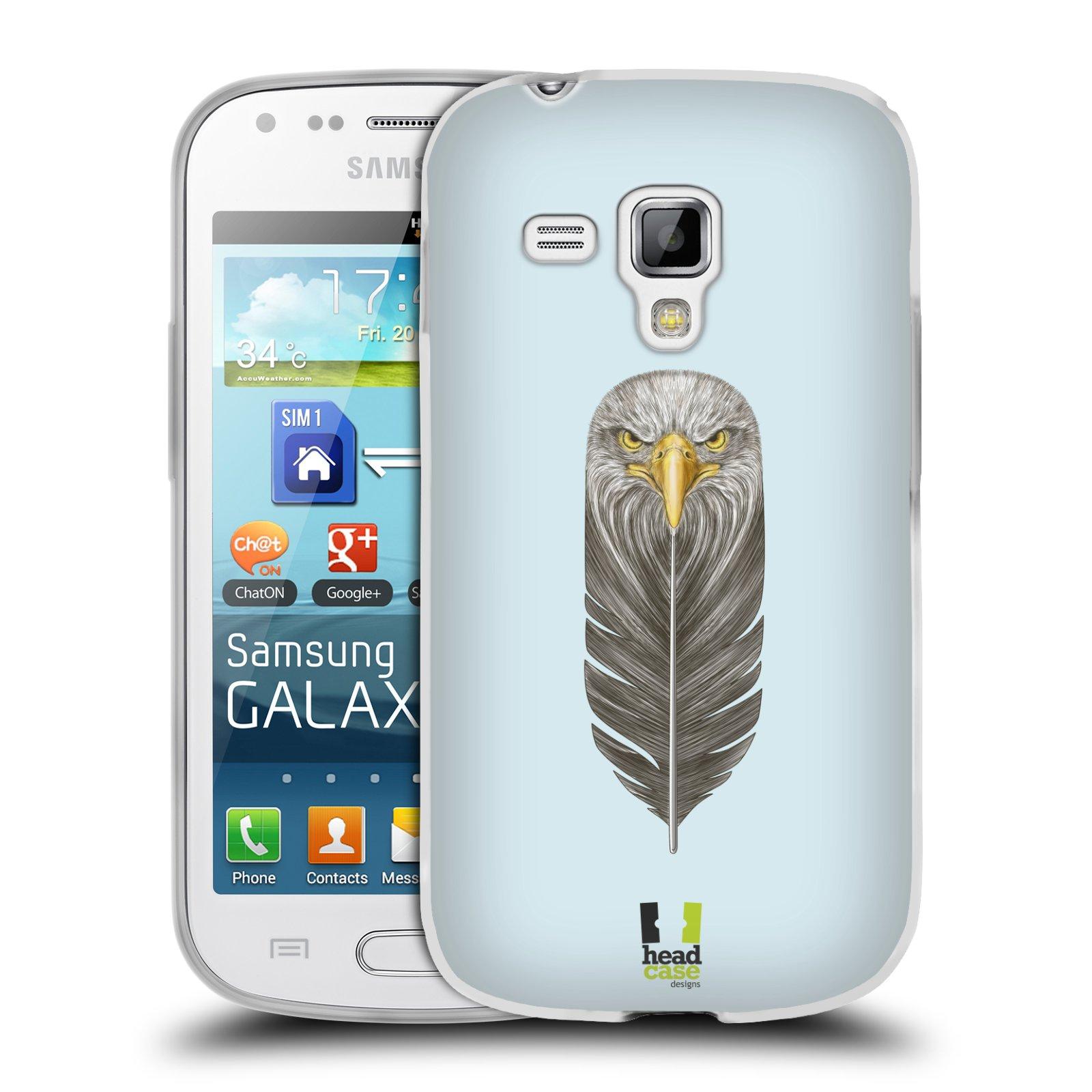 Silikonové pouzdro na mobil Samsung Galaxy Trend HEAD CASE PÍRKO OREL (Silikonový kryt či obal na mobilní telefon Samsung Galaxy Trend GT-S7560)