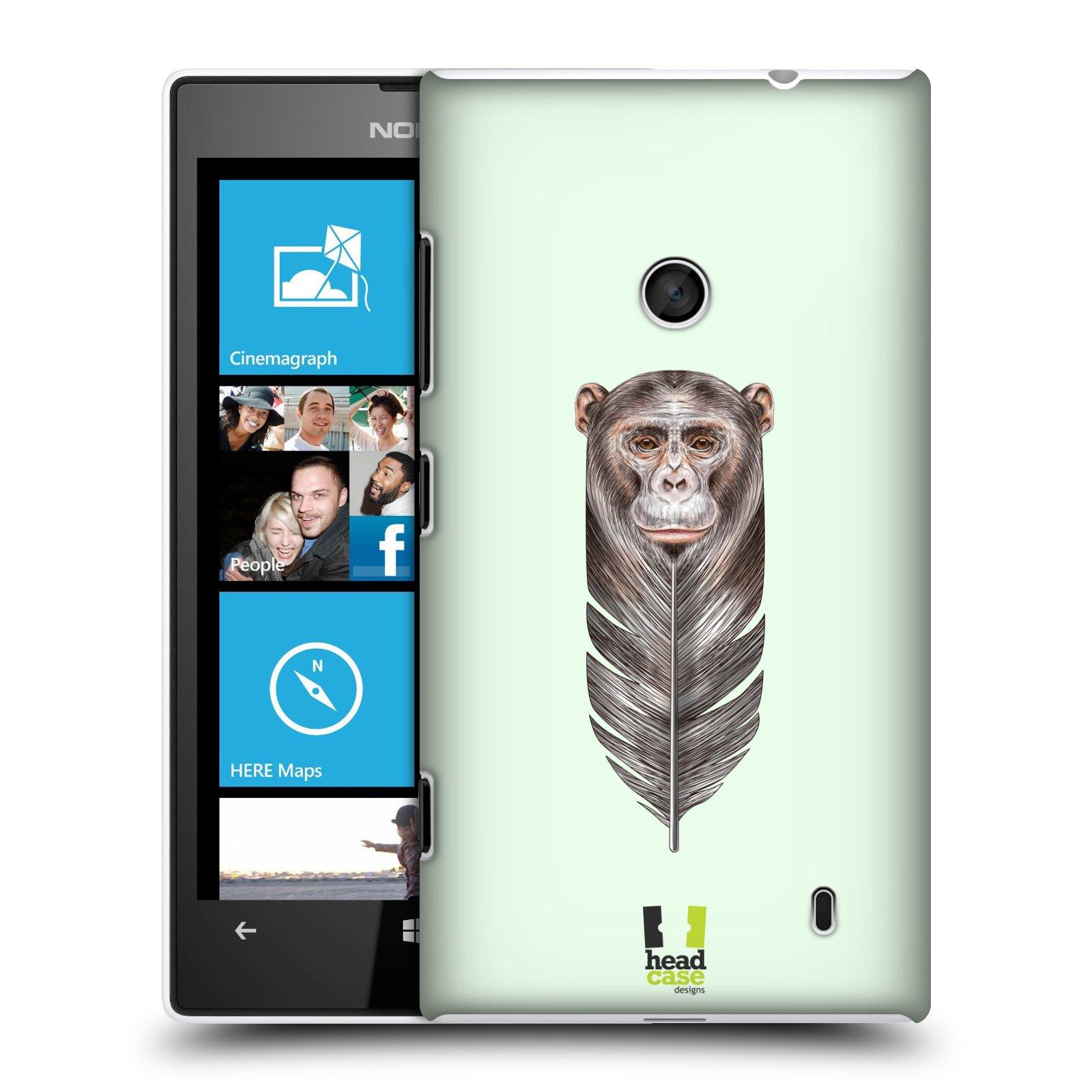 Plastové pouzdro na mobil Nokia Lumia 520 HEAD CASE PÍRKO OPIČKA (Kryt či obal na mobilní telefon Nokia Lumia 520 )