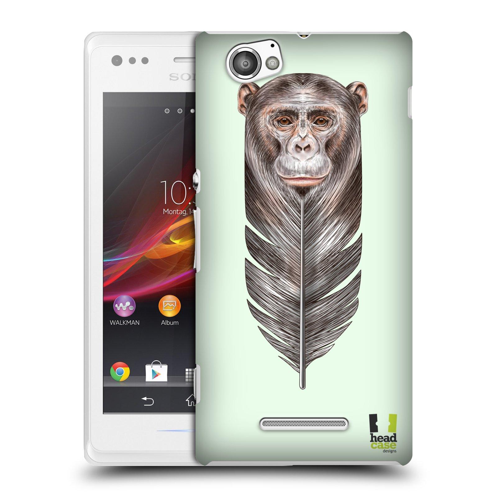 Plastové pouzdro na mobil Sony Xperia M C1905 HEAD CASE PÍRKO OPIČKA (Kryt či obal na mobilní telefon Sony Xperia M a M Dual)