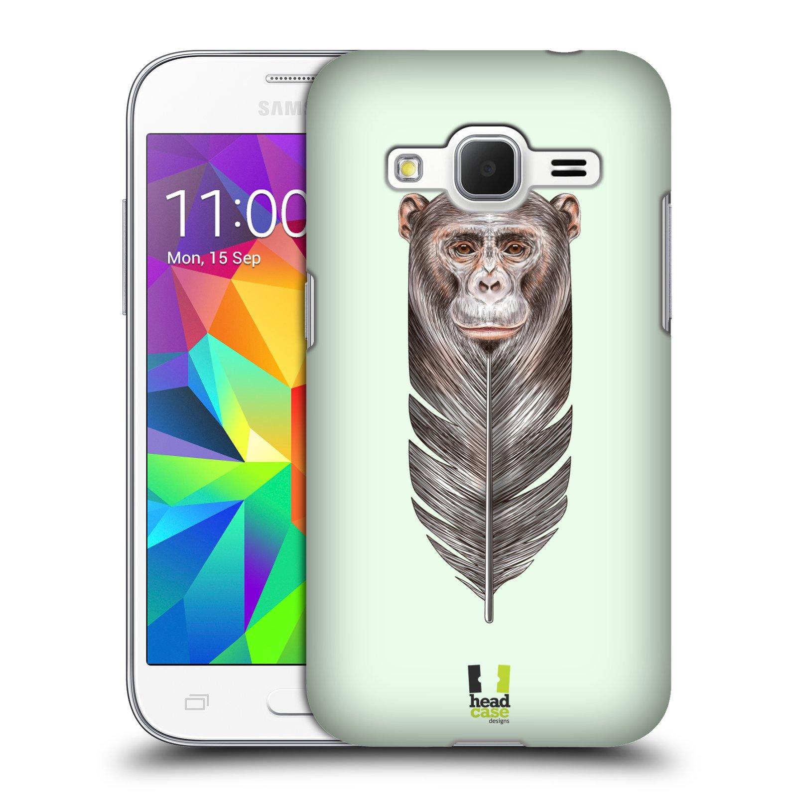 Plastové pouzdro na mobil Samsung Galaxy Core Prime VE HEAD CASE PÍRKO OPIČKA (Kryt či obal na mobilní telefon Samsung Galaxy Core Prime LTE VE SM-G361F)