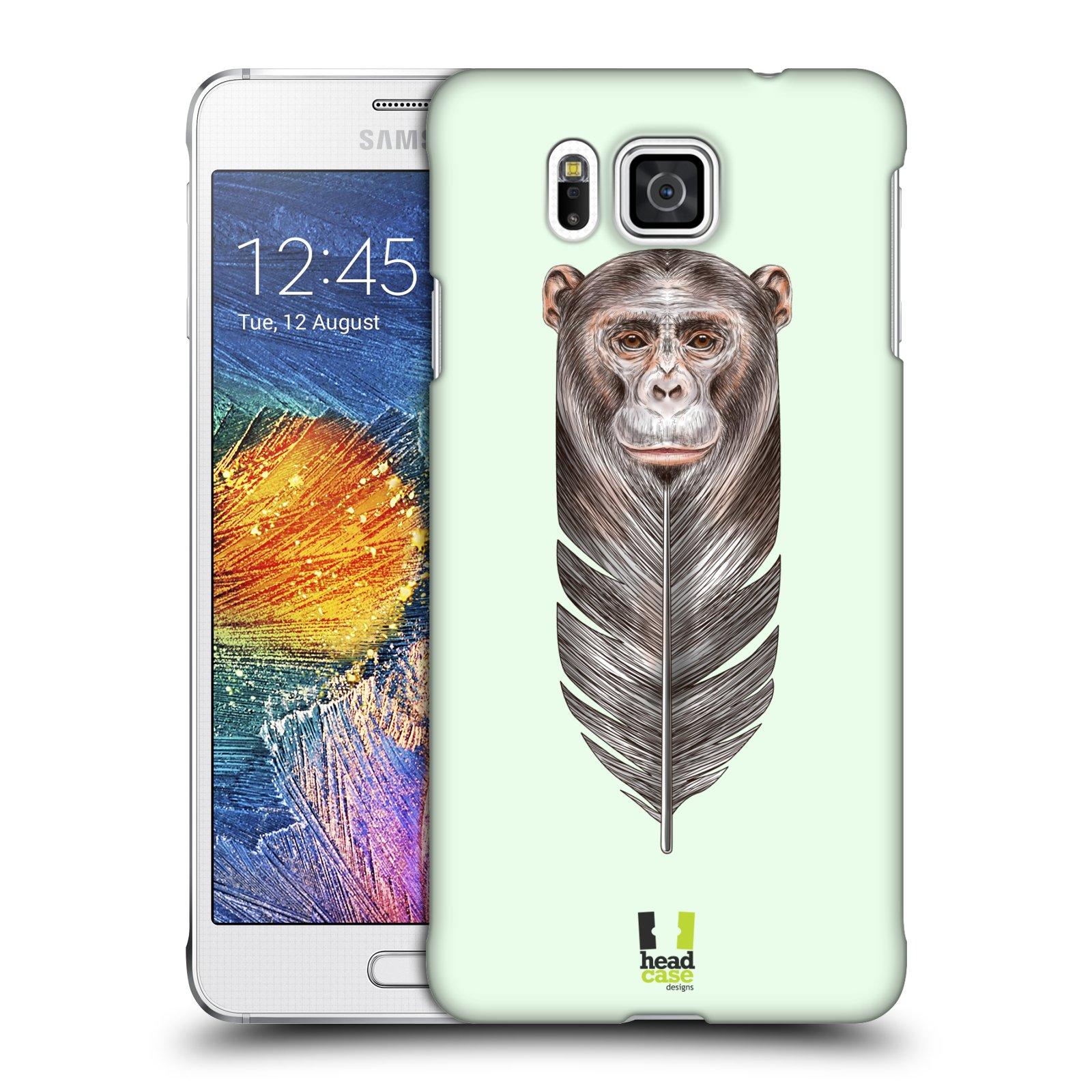 Plastové pouzdro na mobil Samsung Galaxy Alpha HEAD CASE PÍRKO OPIČKA (Kryt či obal na mobilní telefon Samsung Galaxy Alpha SM-G850)