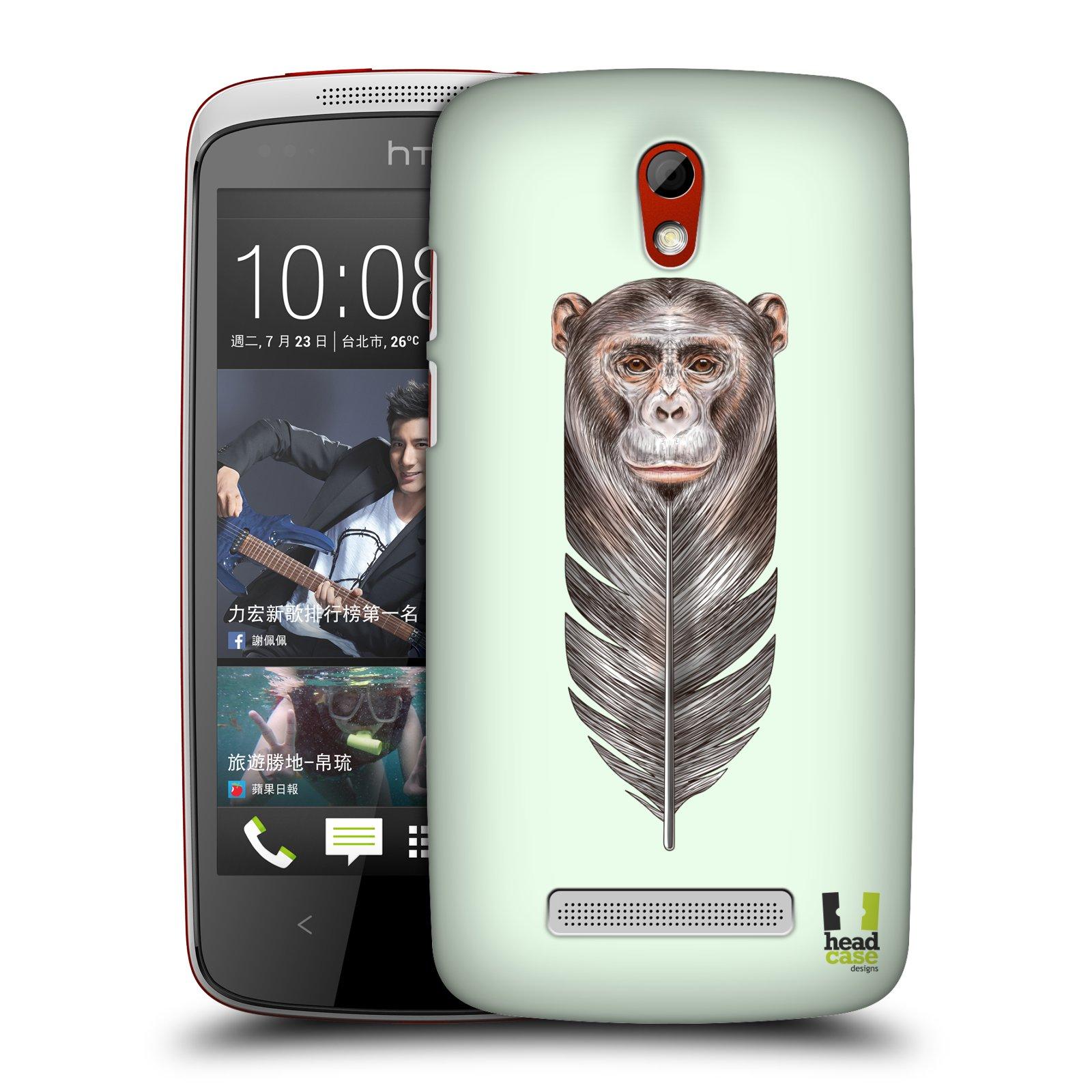 Plastové pouzdro na mobil HTC Desire 500 HEAD CASE PÍRKO OPIČKA (Kryt či obal na mobilní telefon HTC Desire 500)
