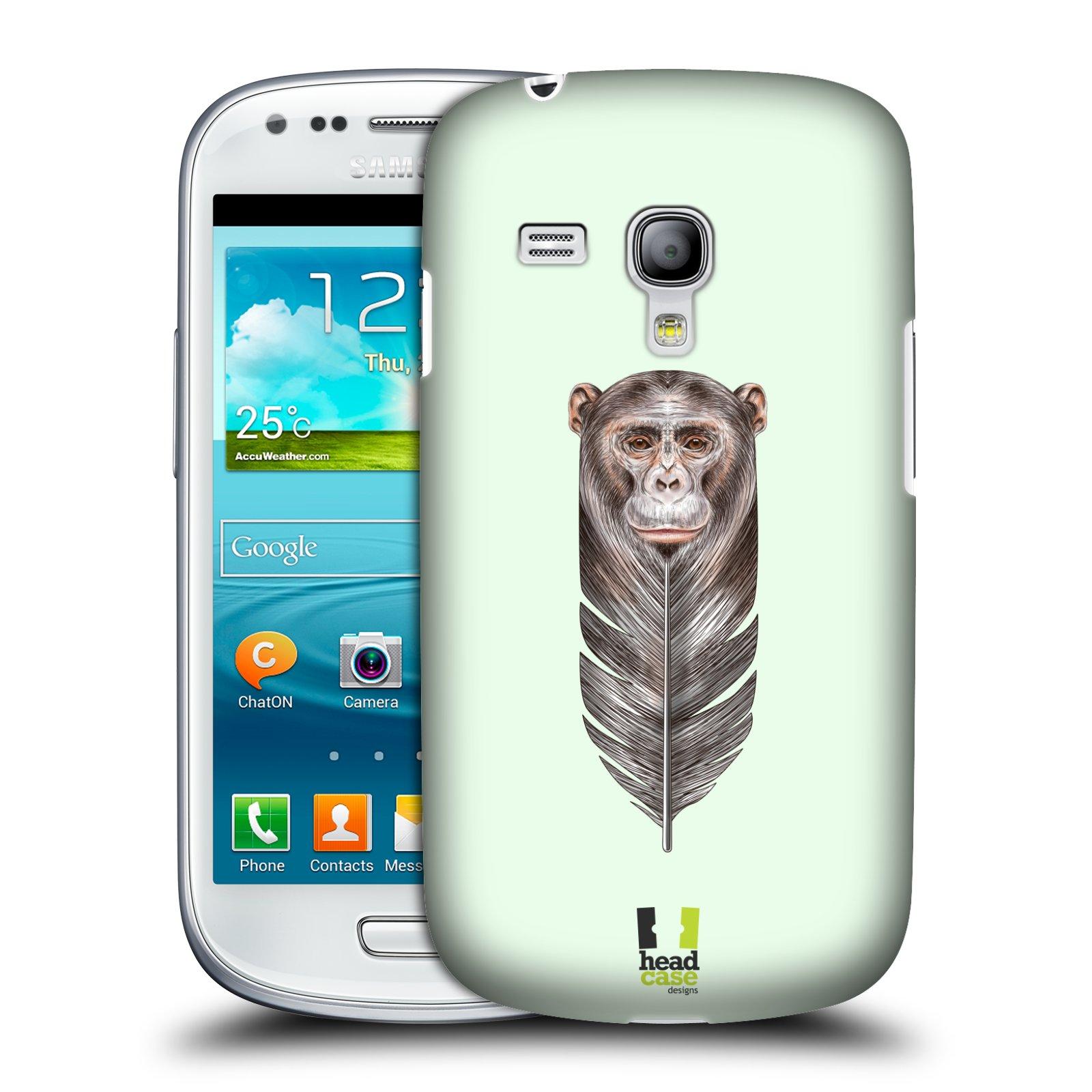 Plastové pouzdro na mobil Samsung Galaxy S III Mini HEAD CASE PÍRKO OPIČKA (Kryt či obal na mobilní telefon Samsung Galaxy S III Mini GT-i8190)