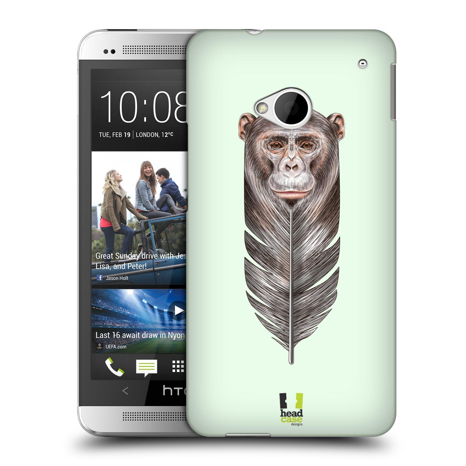Plastové pouzdro na mobil HTC ONE M7 HEAD CASE PÍRKO OPIČKA (Kryt či obal na mobilní telefon HTC ONE M7)