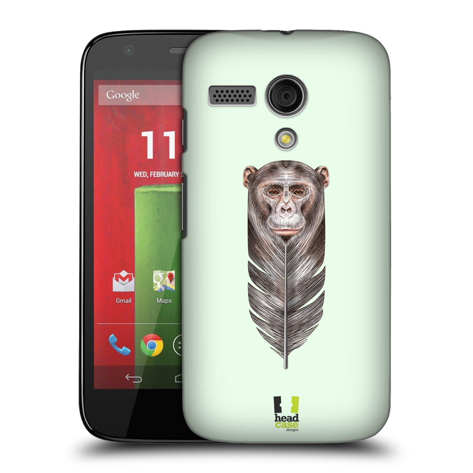 Plastové pouzdro na mobil Motorola Moto G HEAD CASE PÍRKO OPIČKA (Kryt či obal na mobilní telefon Motorola Moto G)