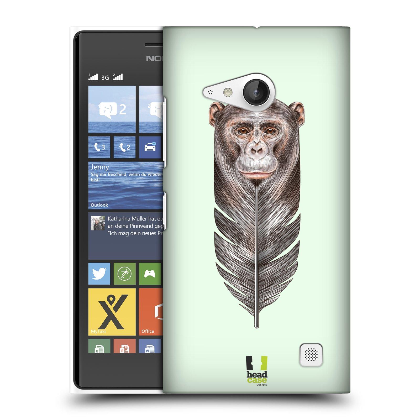 Plastové pouzdro na mobil Nokia Lumia 730 Dual SIM HEAD CASE PÍRKO OPIČKA (Kryt či obal na mobilní telefon Nokia Lumia 730 Dual SIM)