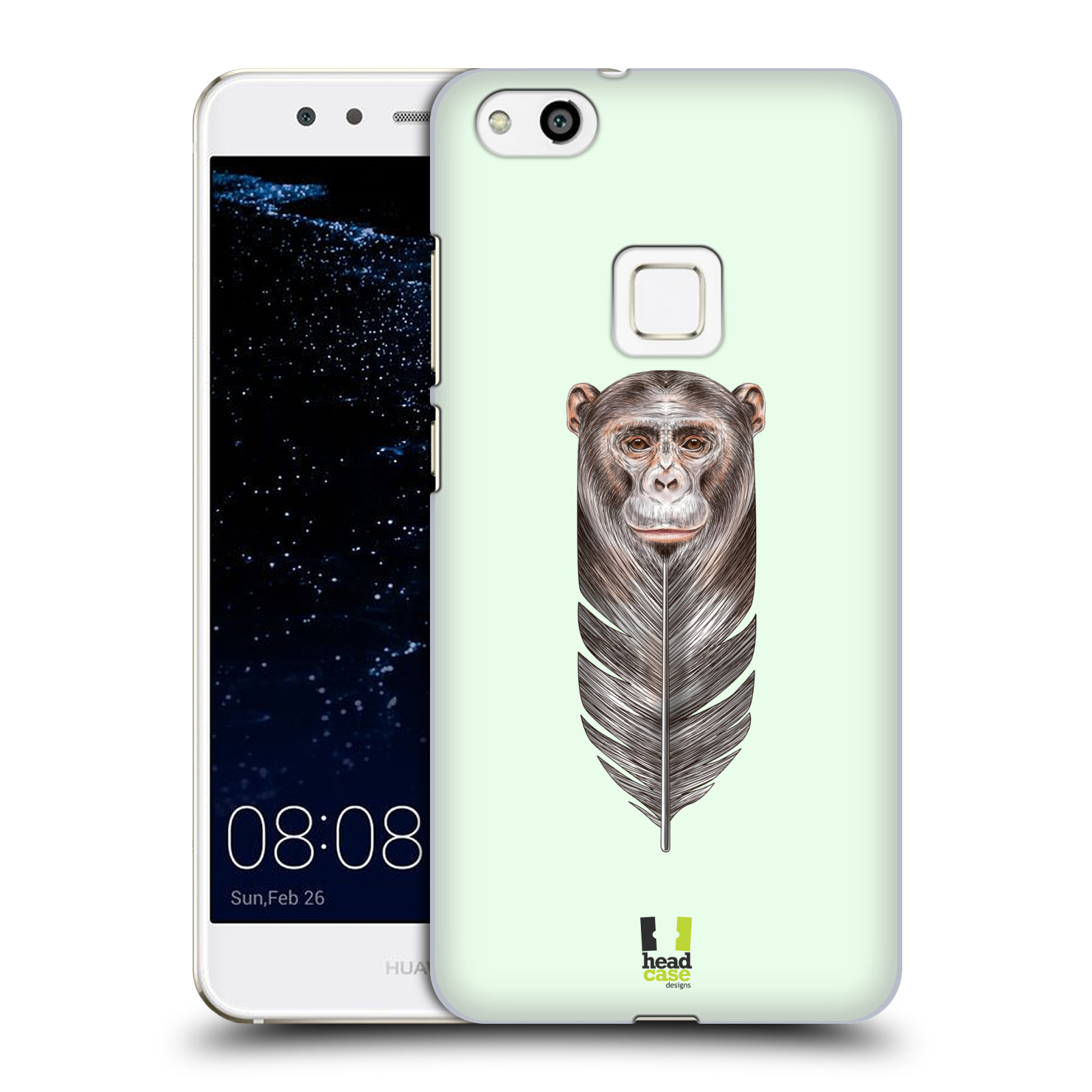 Plastové pouzdro na mobil Huawei P10 Lite Head Case - PÍRKO OPIČKA (Plastový kryt či obal na mobilní telefon Huawei P10 Lite Dual SIM (LX1/LX1A))