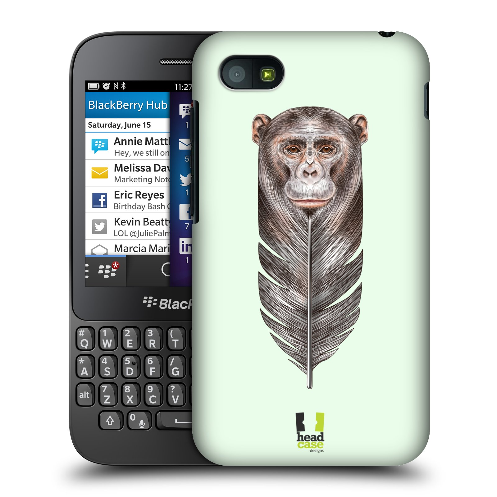 Plastové pouzdro na mobil Blackberry Q5 HEAD CASE PÍRKO OPIČKA (Kryt či obal na mobilní telefon Blackberry Q5)