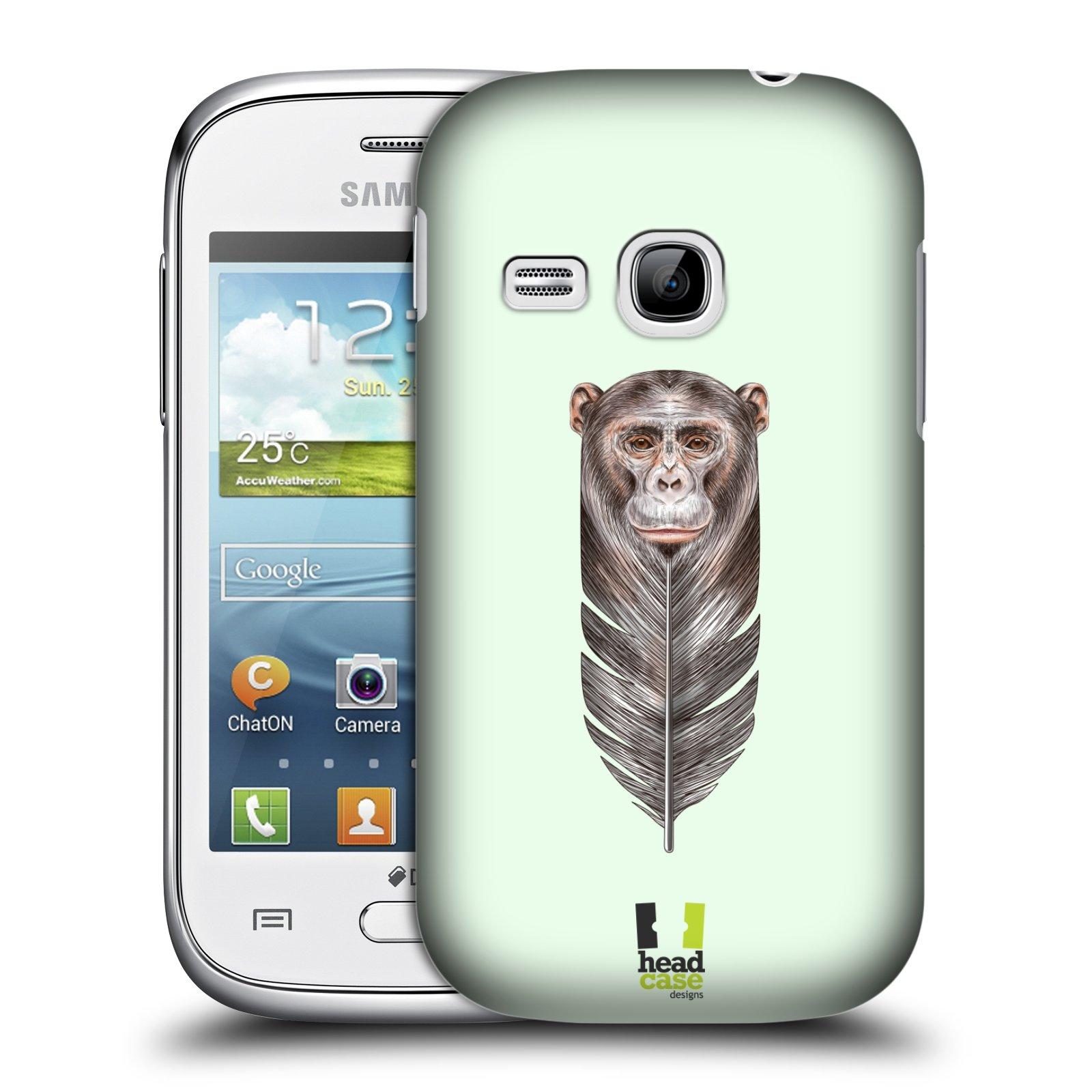 Plastové pouzdro na mobil Samsung Galaxy Young HEAD CASE PÍRKO OPIČKA (Kryt či obal na mobilní telefon Samsung Galaxy Young GT-S6310)