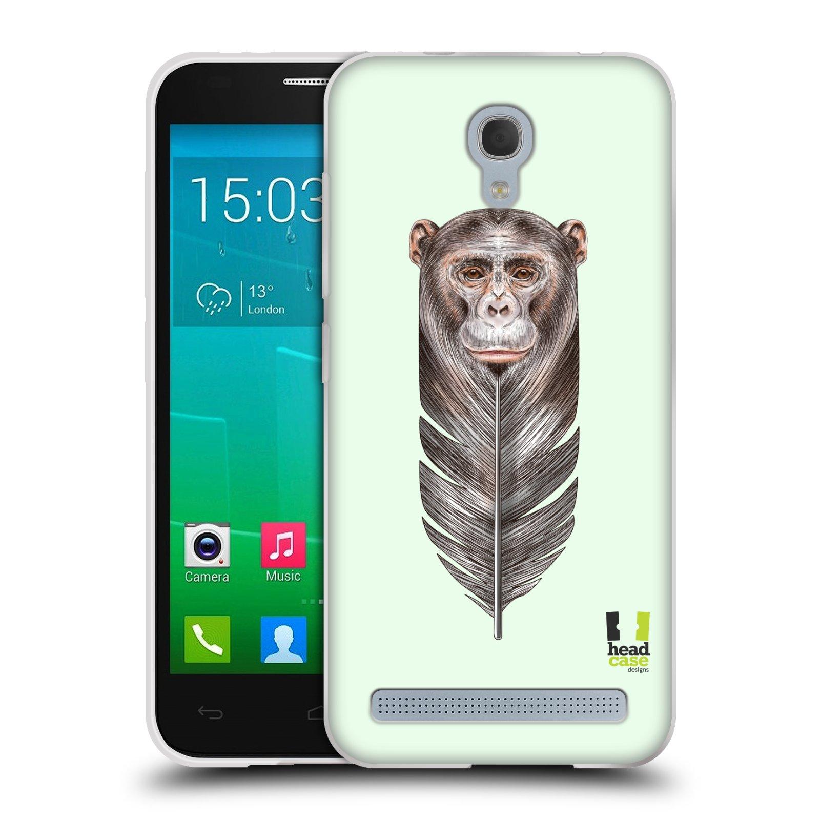 Silikonové pouzdro na mobil Alcatel One Touch Idol 2 Mini S 6036Y HEAD CASE PÍRKO OPIČKA (Silikonový kryt či obal na mobilní telefon Alcatel Idol 2 Mini S OT-6036Y)
