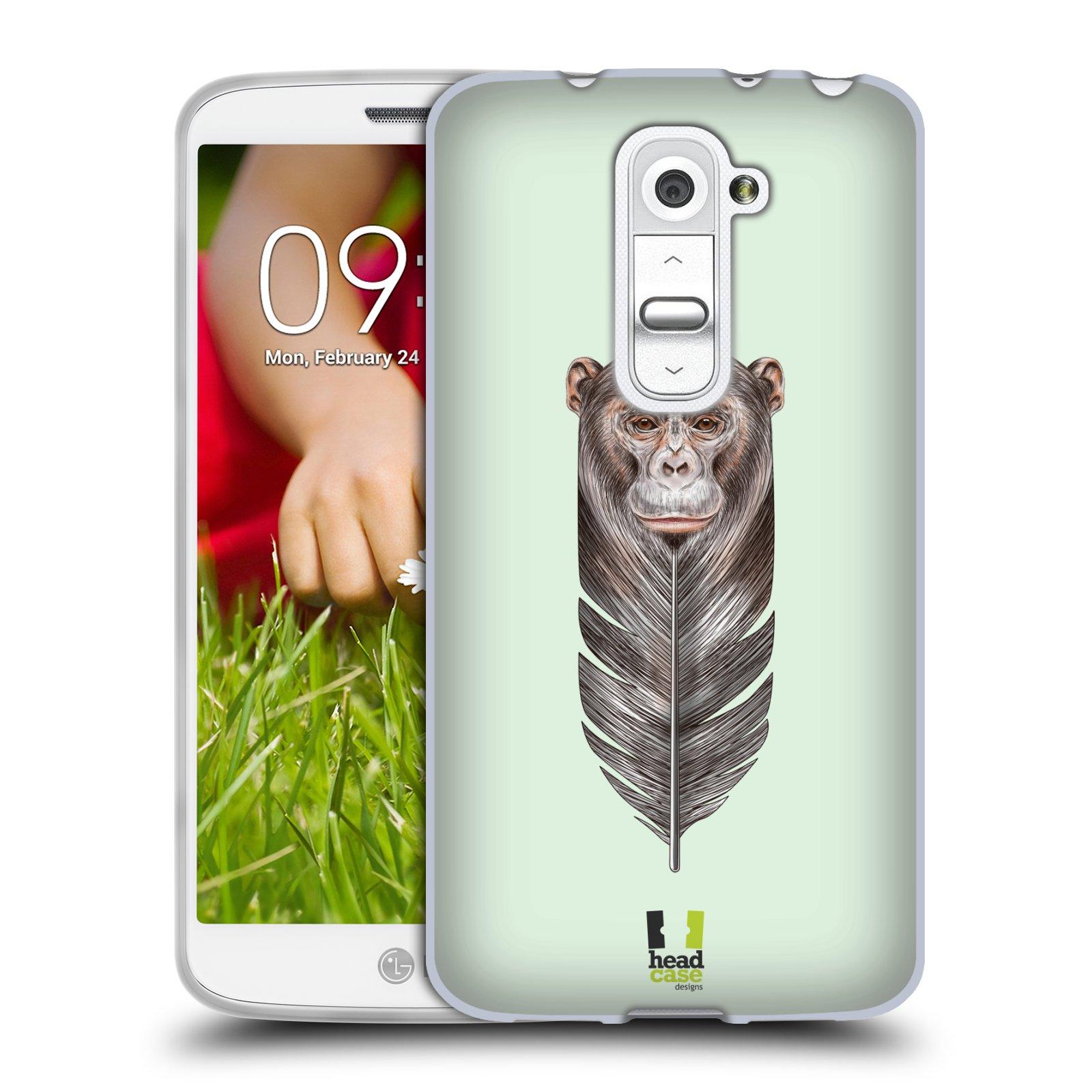 Silikonové pouzdro na mobil LG G2 Mini HEAD CASE PÍRKO OPIČKA (Silikonový kryt či obal na mobilní telefon LG G2 Mini D620)