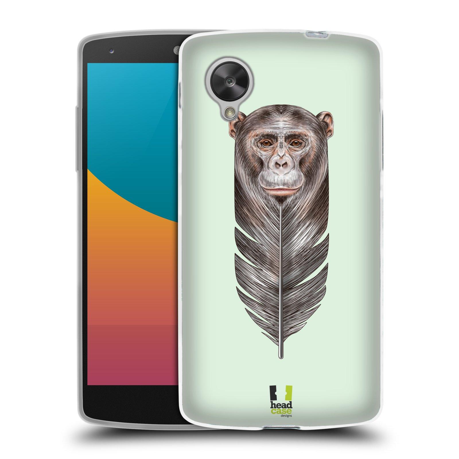 Silikonové pouzdro na mobil LG Nexus 5 HEAD CASE PÍRKO OPIČKA (Silikonový kryt či obal na mobilní telefon LG Google Nexus 5 D821)