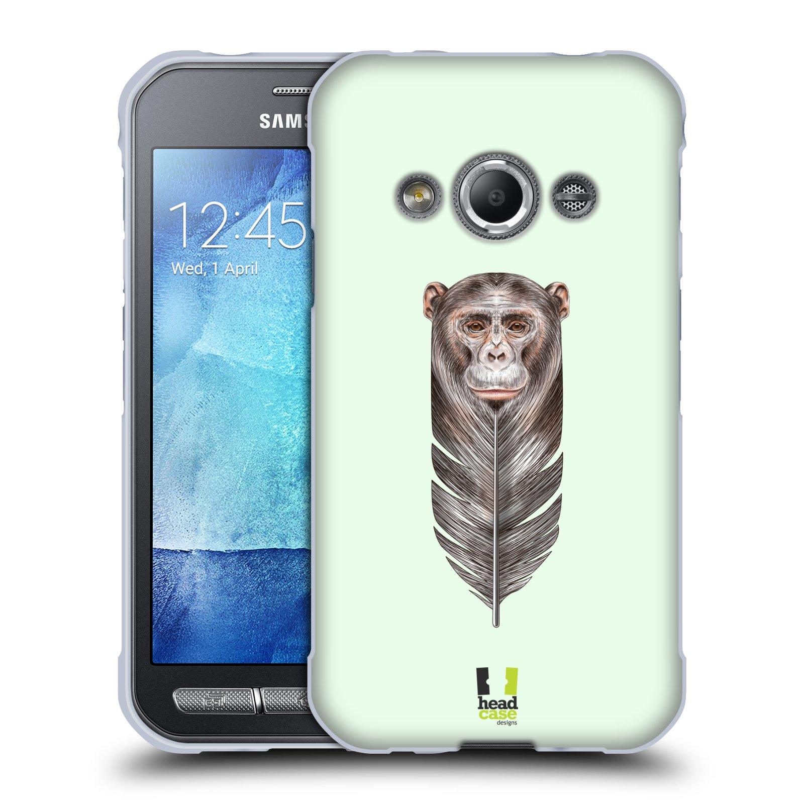 Silikonové pouzdro na mobil Samsung Galaxy Xcover 3 HEAD CASE PÍRKO OPIČKA (Silikonový kryt či obal na mobilní telefon Samsung Galaxy Xcover 3 SM-G388F)