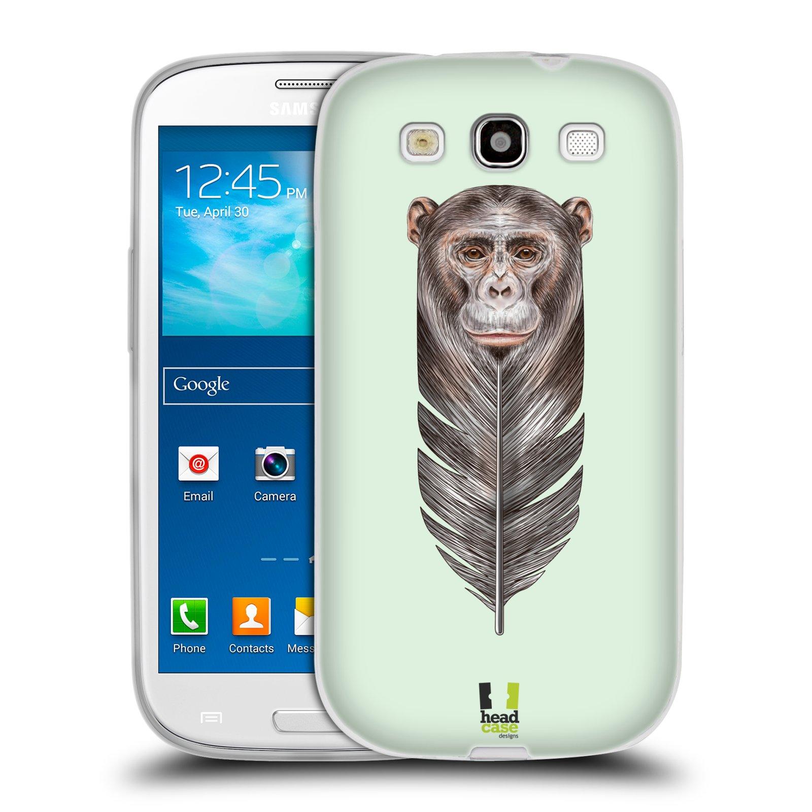Silikonové pouzdro na mobil Samsung Galaxy S III HEAD CASE PÍRKO OPIČKA (Silikonový kryt či obal na mobilní telefon Samsung Galaxy S III GT-i9300)
