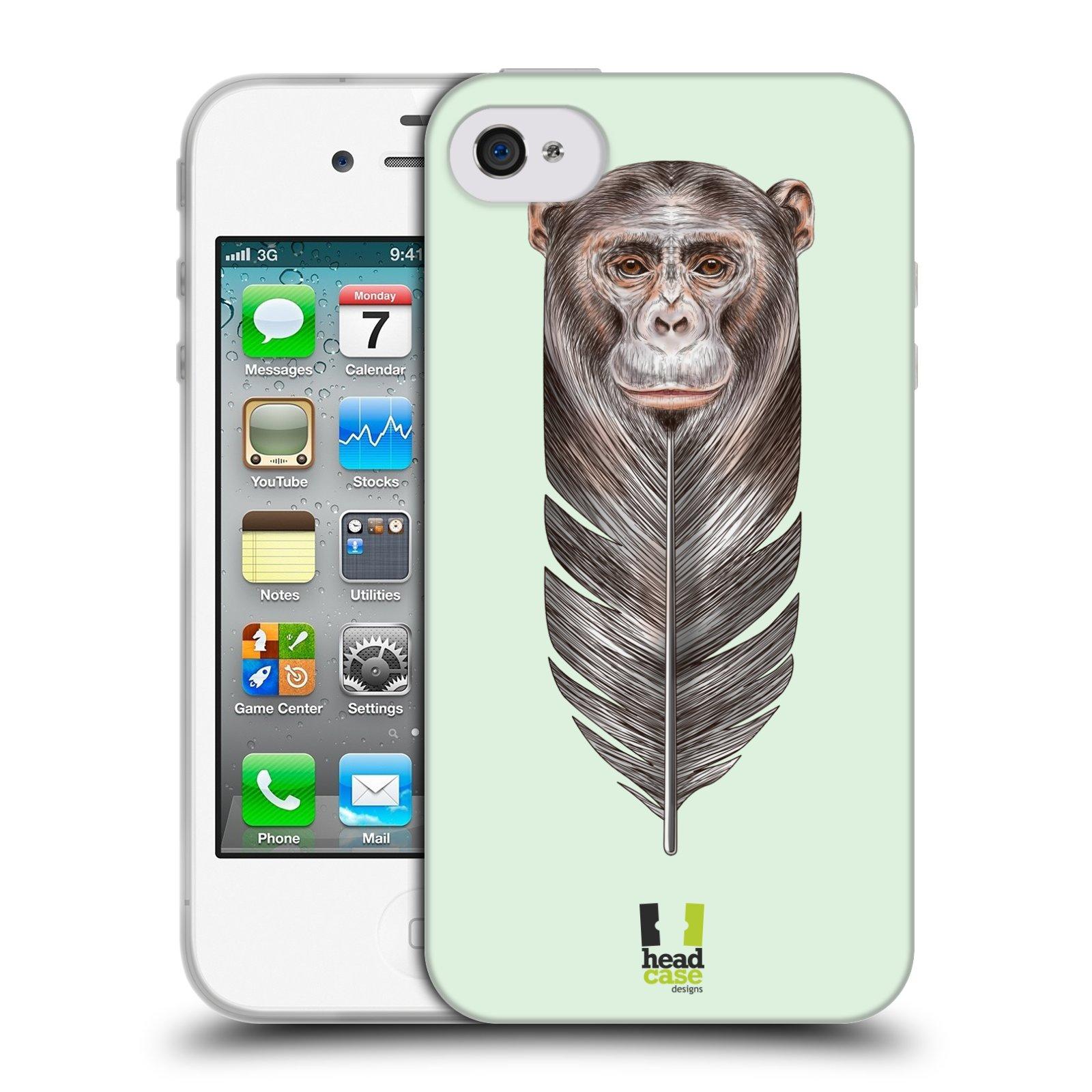 Silikonové pouzdro na mobil Apple iPhone 4 a 4S HEAD CASE PÍRKO OPIČKA (Silikonový kryt či obal na mobilní telefon Apple iPhone 4 a 4S)