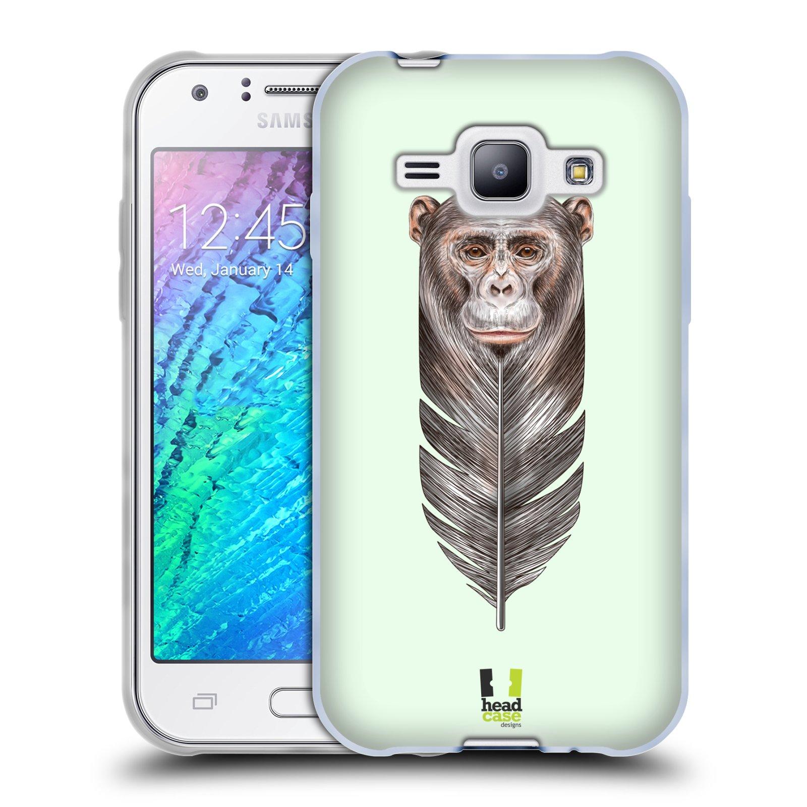 Silikonové pouzdro na mobil Samsung Galaxy J1 HEAD CASE PÍRKO OPIČKA (Silikonový kryt či obal na mobilní telefon Samsung Galaxy J1 a J1 Duos)
