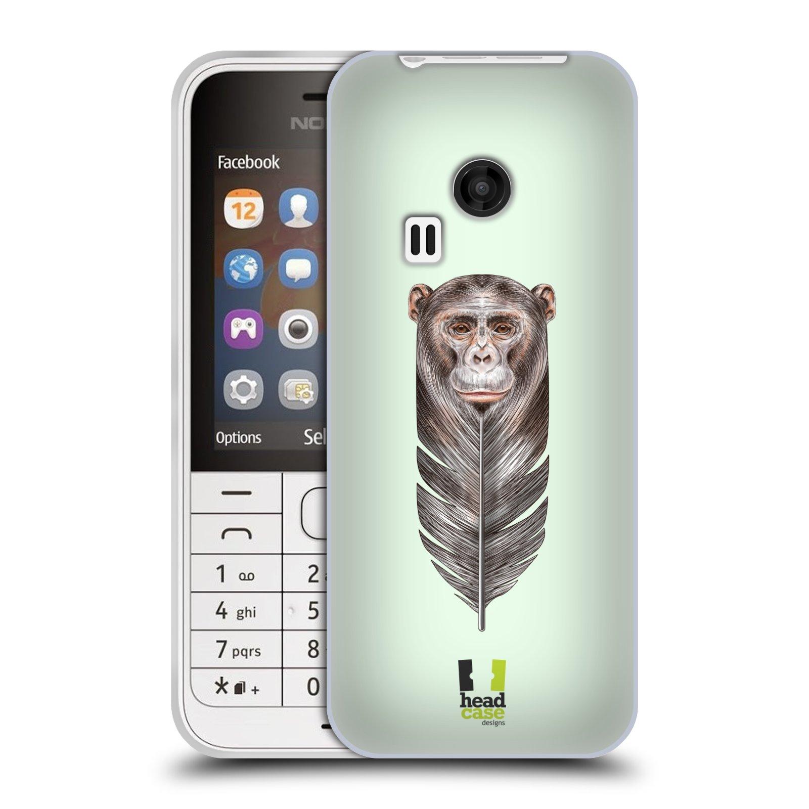 Silikonové pouzdro na mobil Nokia 220 HEAD CASE PÍRKO OPIČKA (Silikonový kryt či obal na mobilní telefon Nokia 220 a 220 Dual SIM)