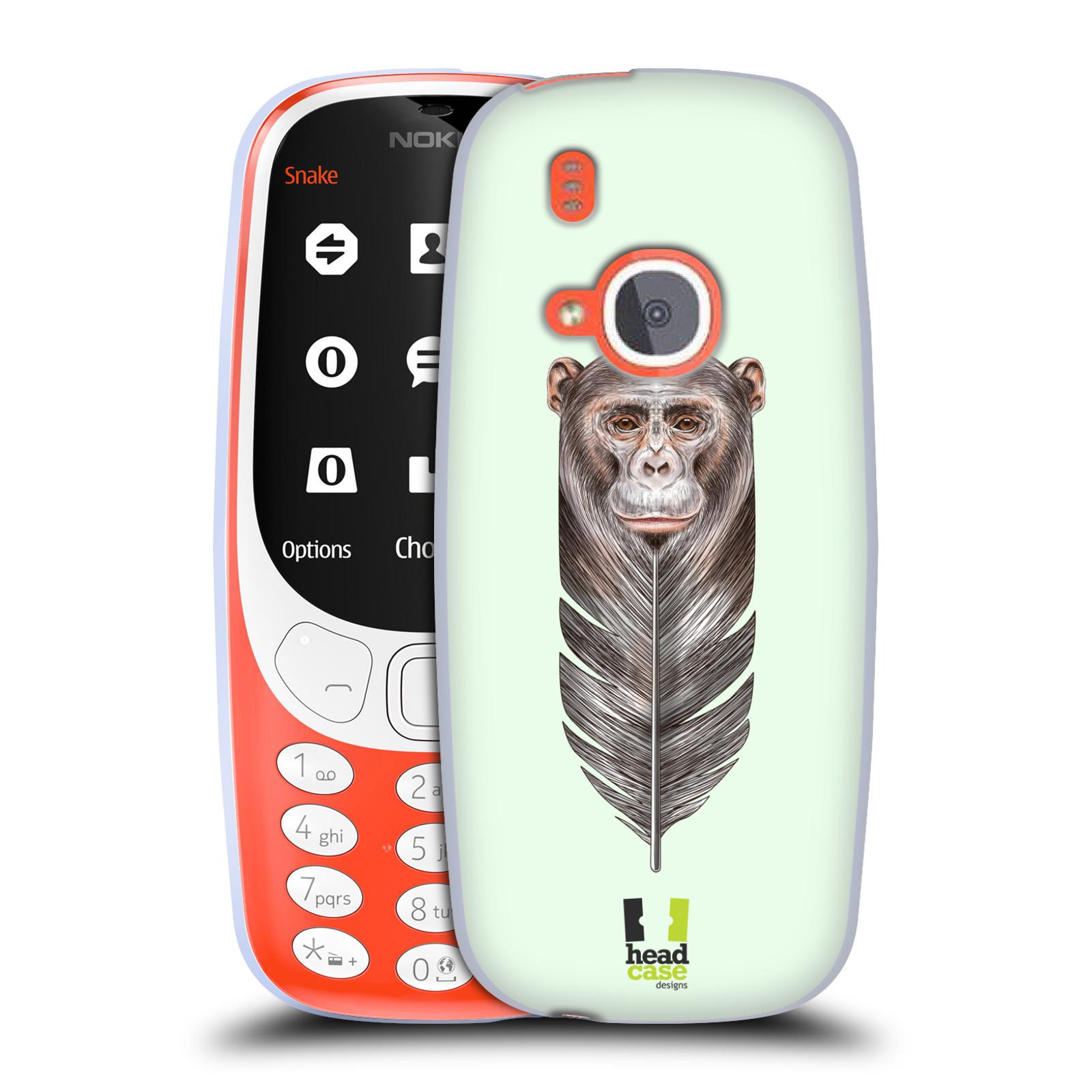 Silikonové pouzdro na mobil Nokia 3310 - Head Case - PÍRKO OPIČKA (Silikonový kryt či obal na mobilní telefon Nokia 3310 (2017) s motivem PÍRKO OPIČKA)