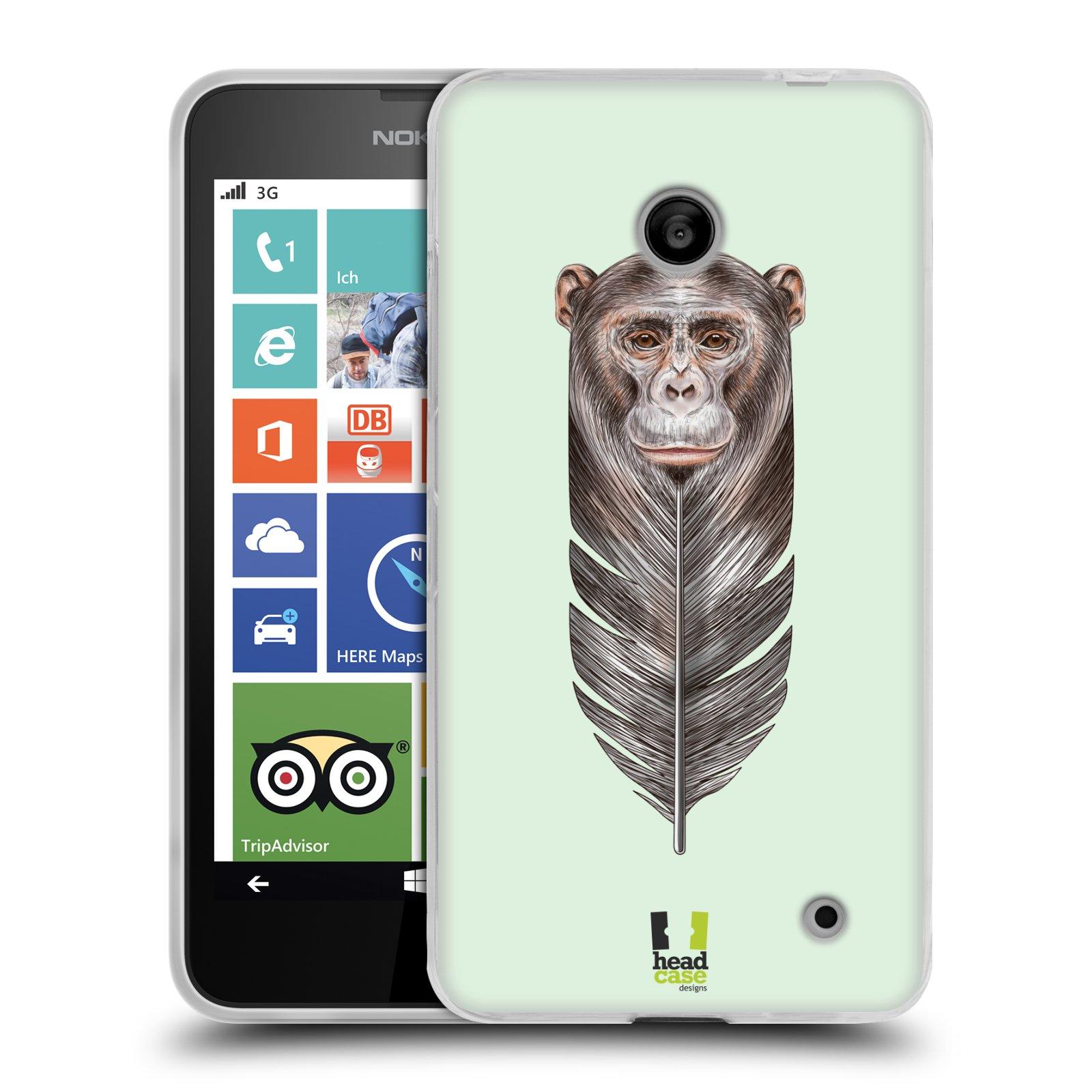 Silikonové pouzdro na mobil Nokia Lumia 630 HEAD CASE PÍRKO OPIČKA (Silikonový kryt či obal na mobilní telefon Nokia Lumia 630 a Nokia Lumia 630 Dual SIM)