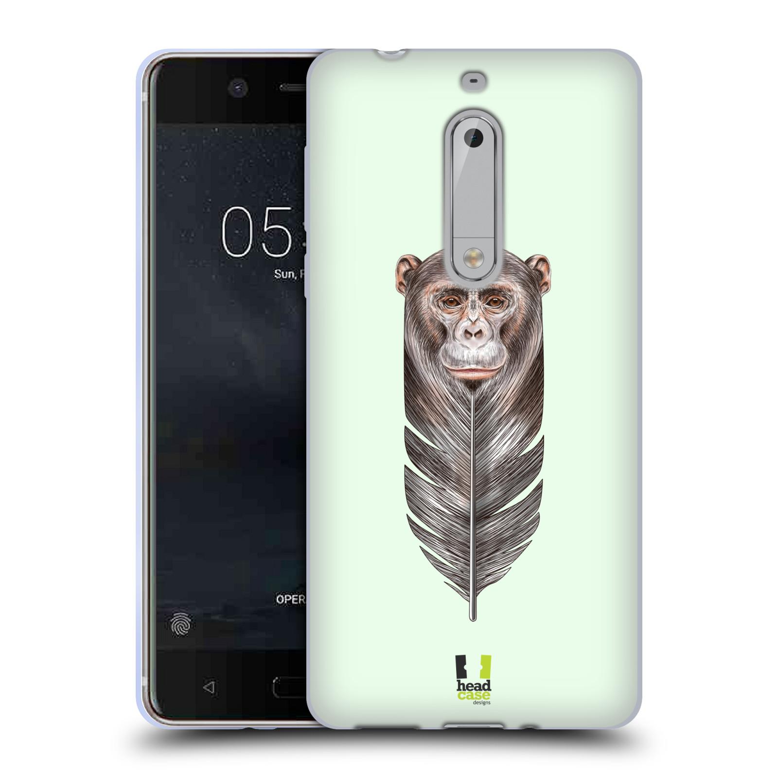Silikonové pouzdro na mobil Nokia 5 Head Case - PÍRKO OPIČKA