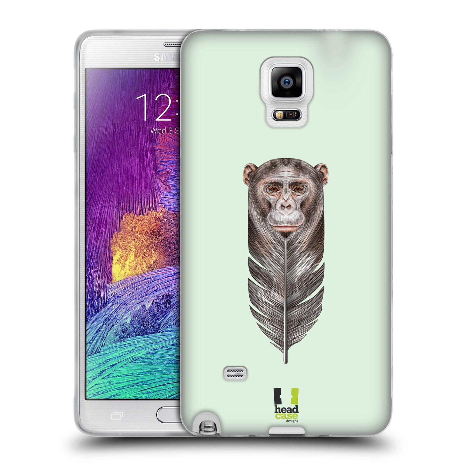 Silikonové pouzdro na mobil Samsung Galaxy Note 4 HEAD CASE PÍRKO OPIČKA (Silikonový kryt či obal na mobilní telefon Samsung Galaxy Note 4 SM-N910F)