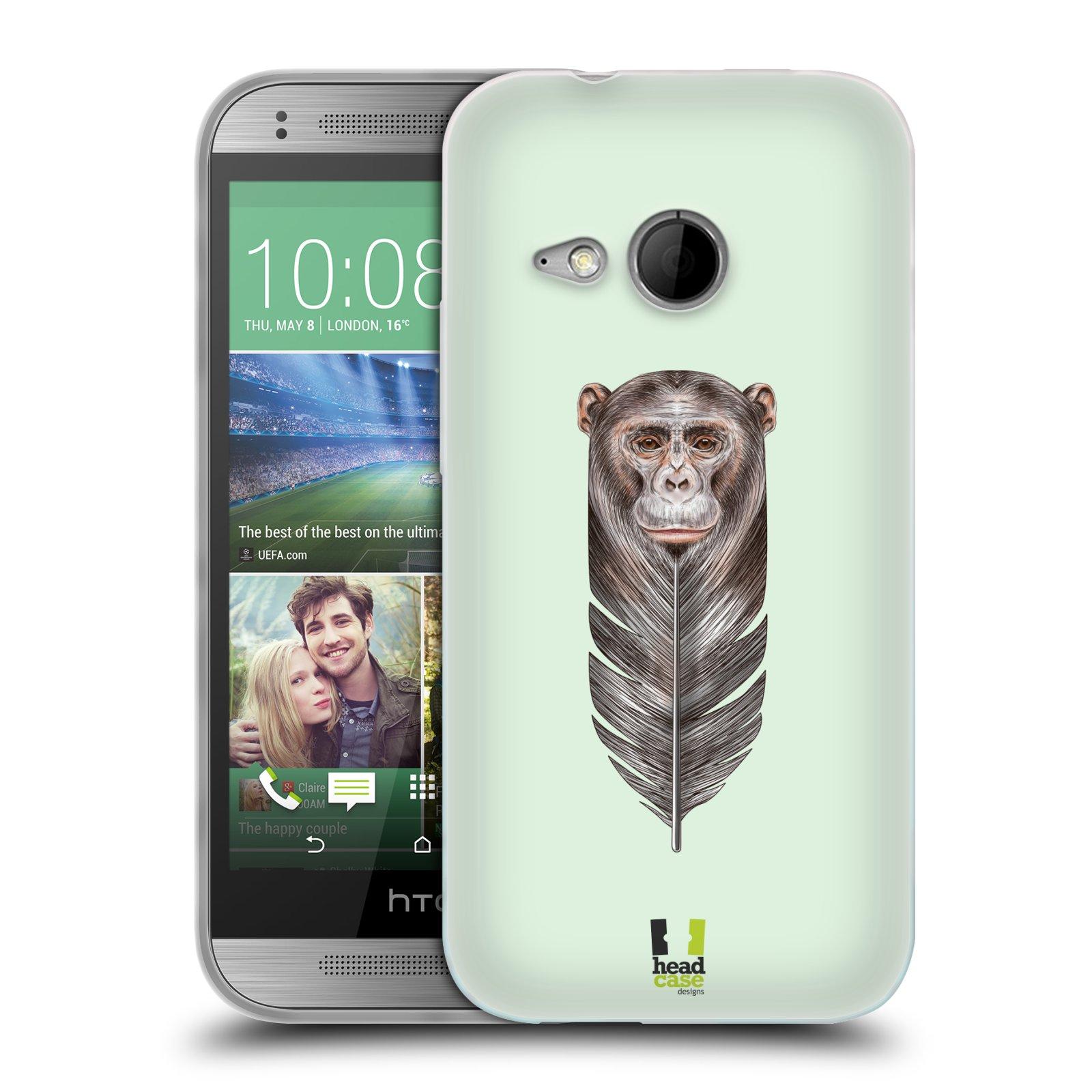 Silikonové pouzdro na mobil HTC ONE Mini 2 HEAD CASE PÍRKO OPIČKA (Silikonový kryt či obal na mobilní telefon HTC ONE Mini 2)