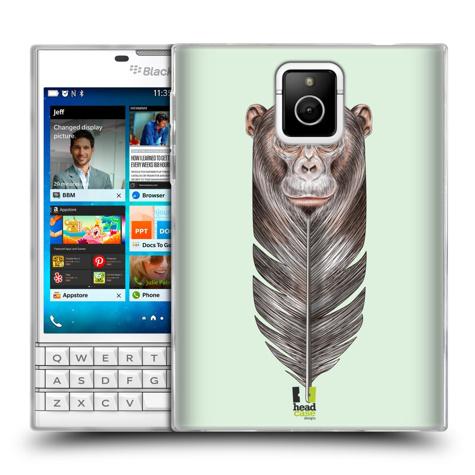 Silikonové pouzdro na mobil Blackberry PASSPORT HEAD CASE PÍRKO OPIČKA (Silikonový kryt či obal na mobilní telefon Blackberry PASSPORT)