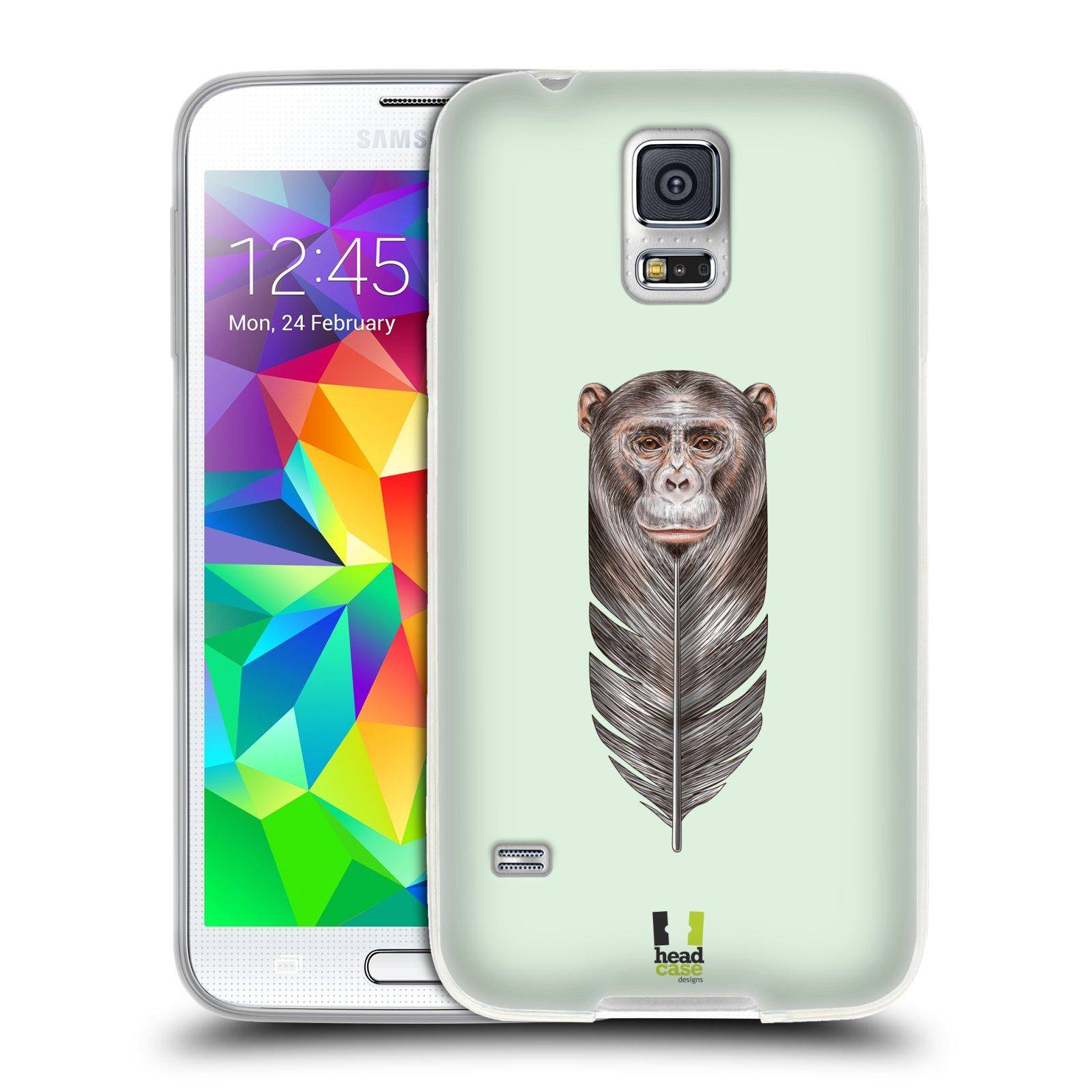 Silikonové pouzdro na mobil Samsung Galaxy S5 HEAD CASE PÍRKO OPIČKA (Silikonový kryt či obal na mobilní telefon Samsung Galaxy S5 SM-G900F)