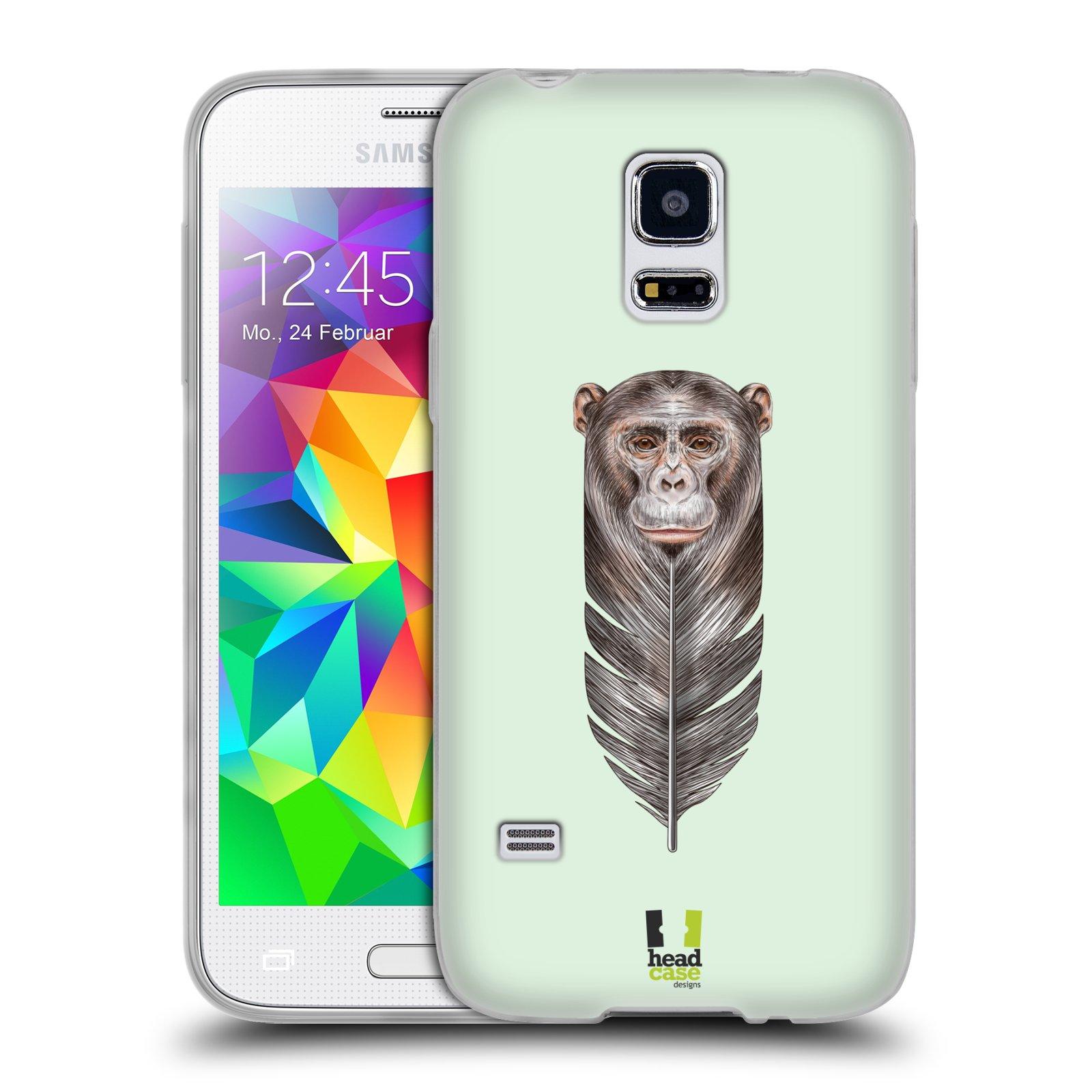 Silikonové pouzdro na mobil Samsung Galaxy S5 Mini HEAD CASE PÍRKO OPIČKA (Silikonový kryt či obal na mobilní telefon Samsung Galaxy S5 Mini SM-G800F)