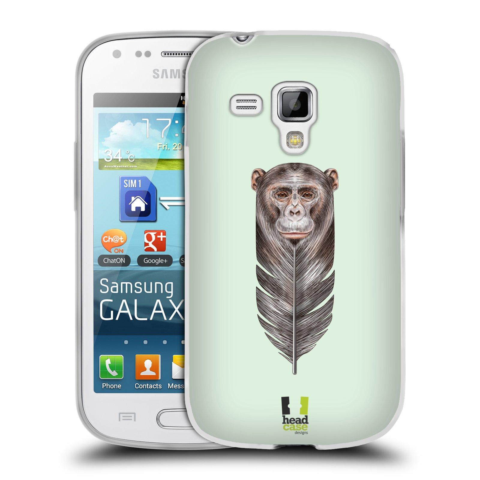 Silikonové pouzdro na mobil Samsung Galaxy Trend HEAD CASE PÍRKO OPIČKA (Silikonový kryt či obal na mobilní telefon Samsung Galaxy Trend GT-S7560)