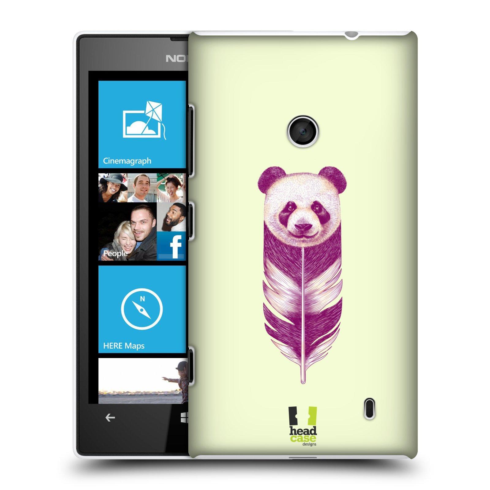 Plastové pouzdro na mobil Nokia Lumia 520 HEAD CASE PÍRKO PANDA (Kryt či obal na mobilní telefon Nokia Lumia 520 )