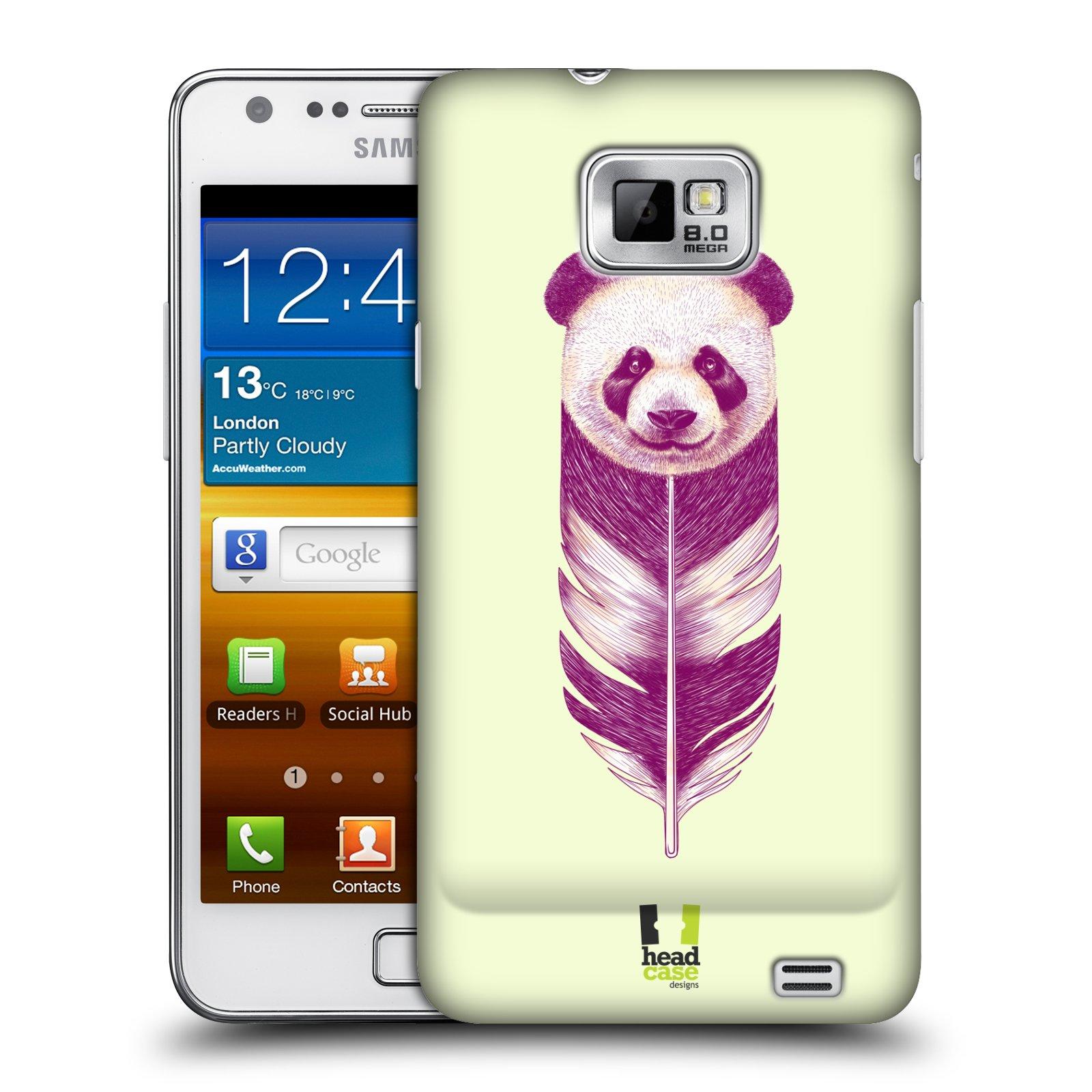 Plastové pouzdro na mobil Samsung Galaxy S II HEAD CASE PÍRKO PANDA (Kryt či obal na mobilní telefon Samsung Galaxy S II GT-i9100)