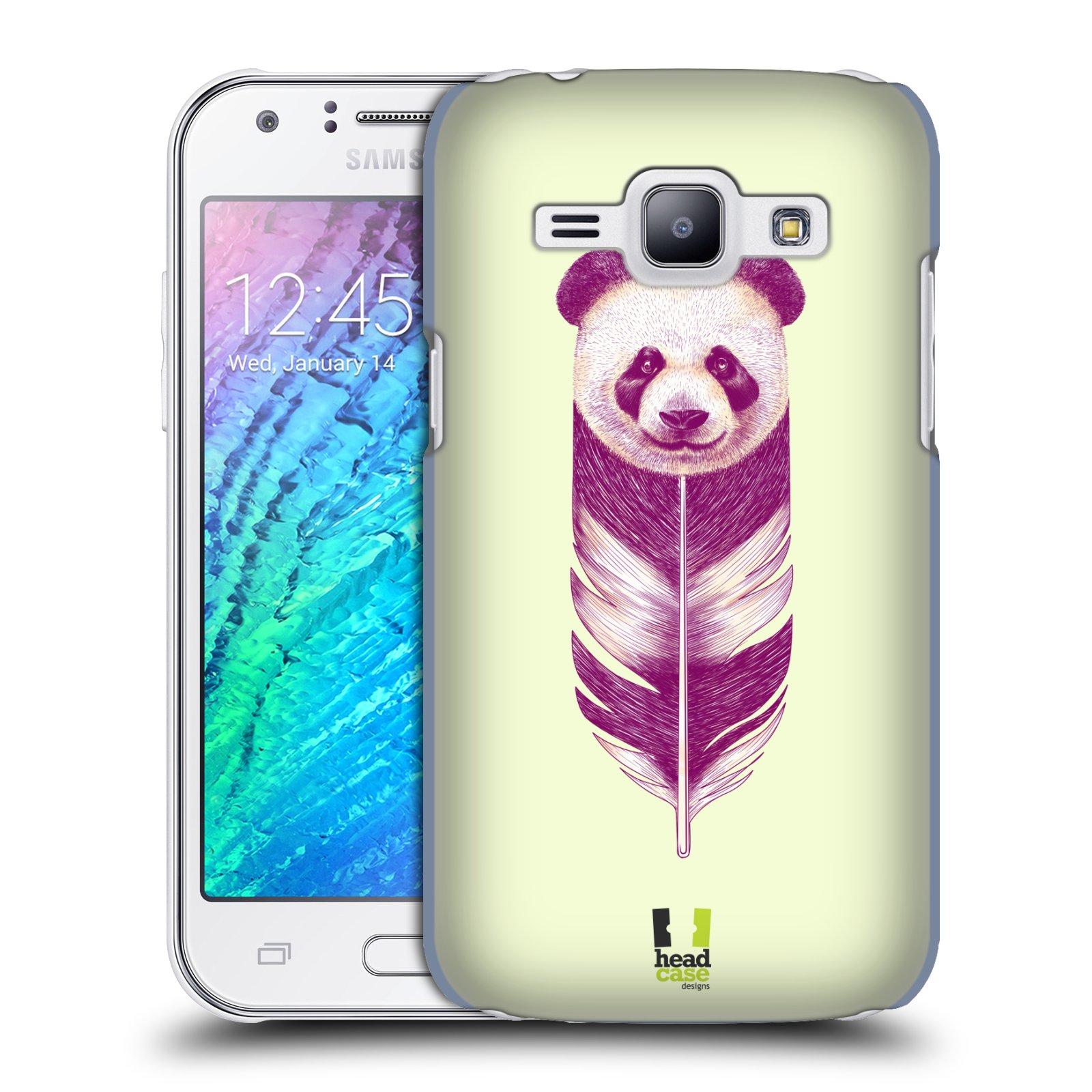 Plastové pouzdro na mobil Samsung Galaxy J1 HEAD CASE PÍRKO PANDA (Kryt či obal na mobilní telefon Samsung Galaxy J1 a J1 Duos )