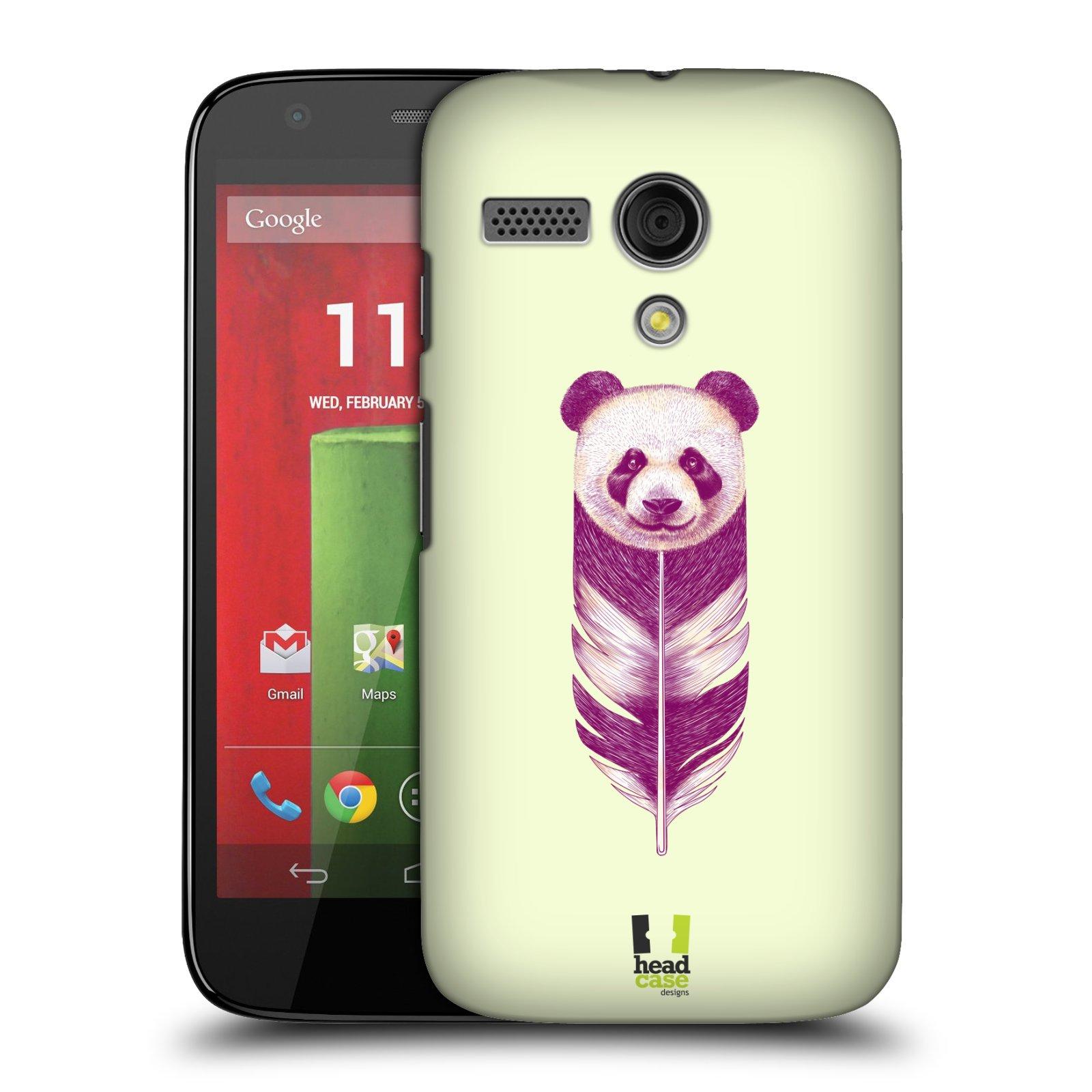 Plastové pouzdro na mobil Motorola Moto G HEAD CASE PÍRKO PANDA (Kryt či obal na mobilní telefon Motorola Moto G)