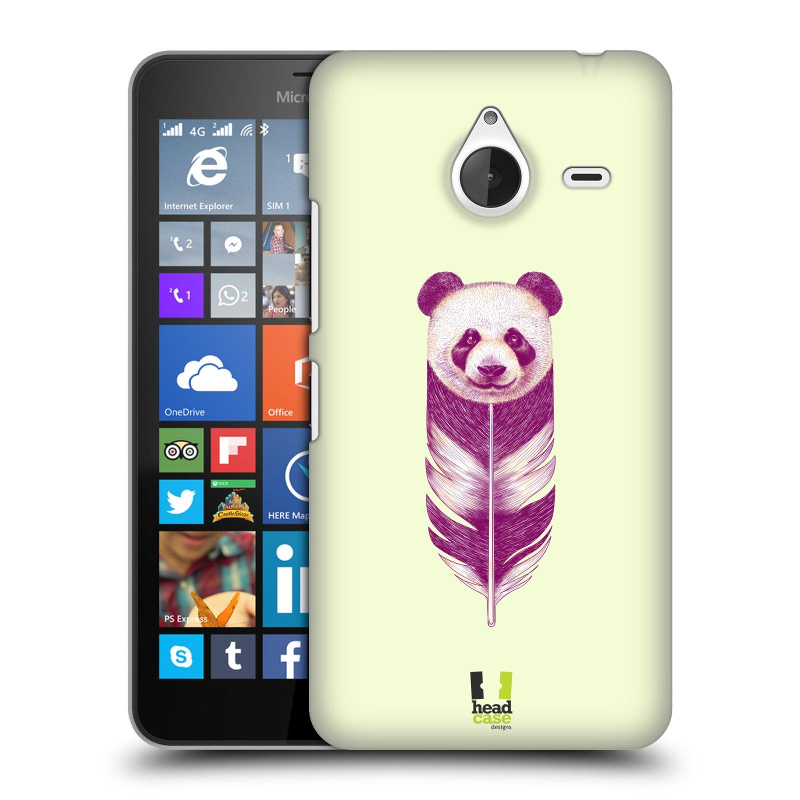 Plastové pouzdro na mobil Microsoft Lumia 640 XL HEAD CASE PÍRKO PANDA (Kryt či obal na mobilní telefon Microsoft Lumia 640 XL)