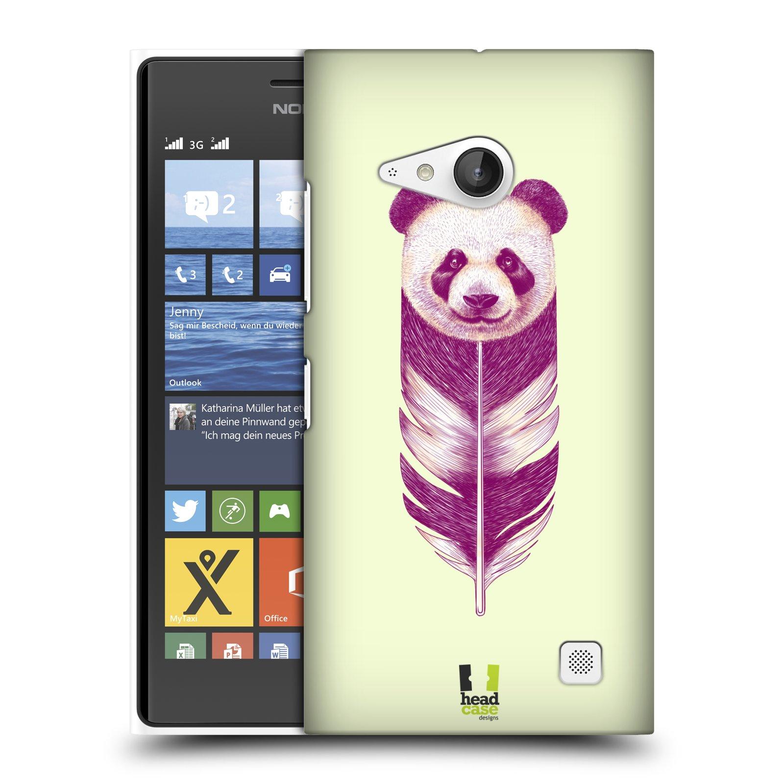 Plastové pouzdro na mobil Nokia Lumia 730 Dual SIM HEAD CASE PÍRKO PANDA (Kryt či obal na mobilní telefon Nokia Lumia 730 Dual SIM)