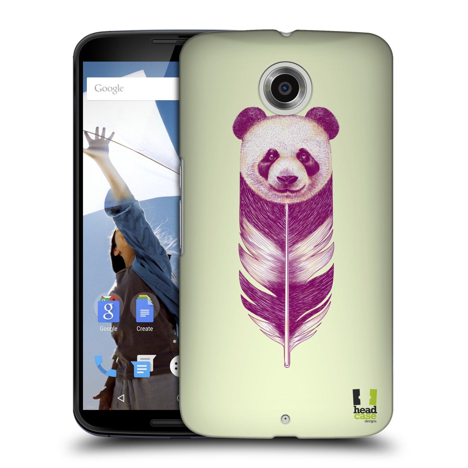 Plastové pouzdro na mobil Motorola Nexus 6 HEAD CASE PÍRKO PANDA (Kryt či obal na mobilní telefon Motorola Nexus 6)