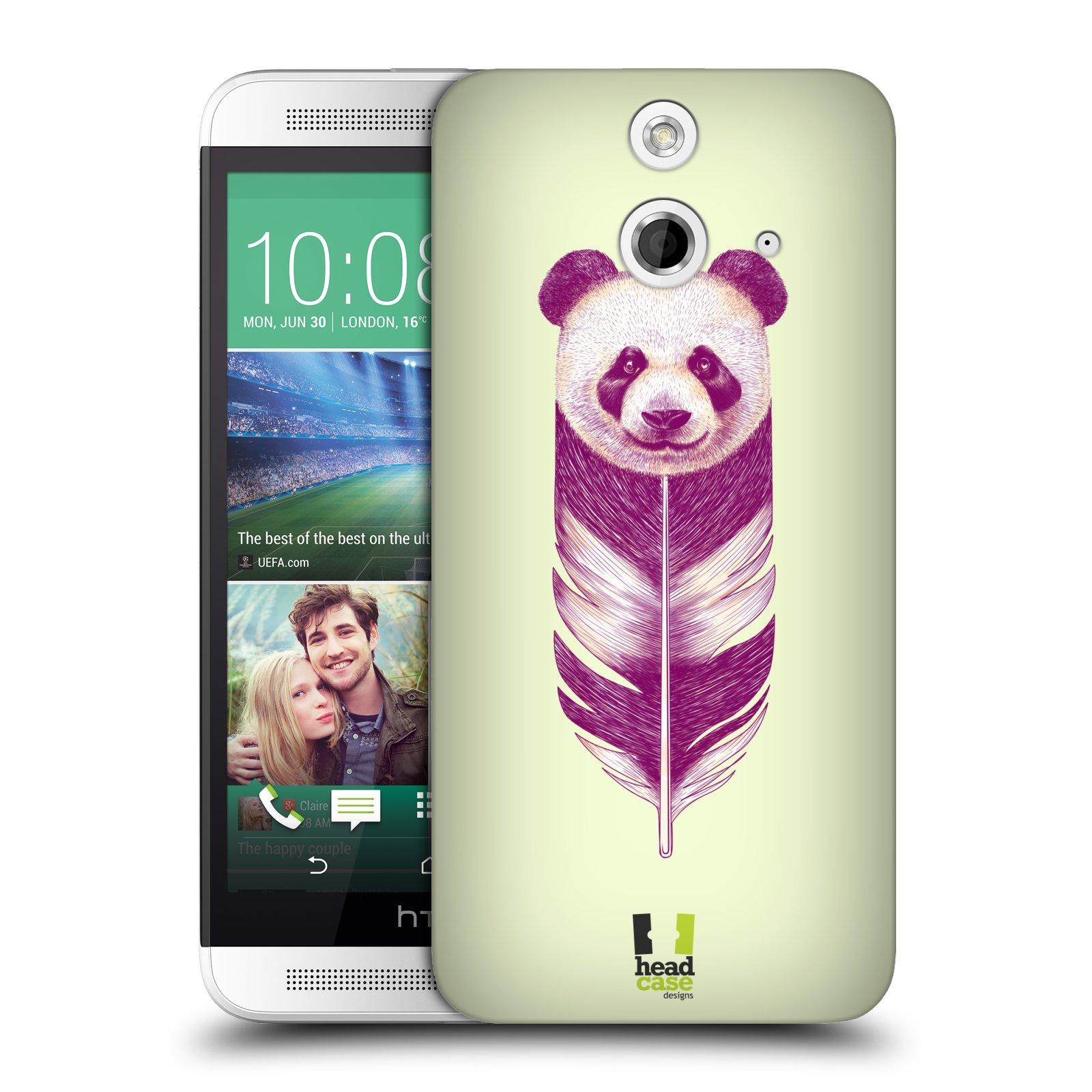 Plastové pouzdro na mobil HTC ONE E8 HEAD CASE PÍRKO PANDA (Kryt či obal na mobilní telefon HTC ONE E8)