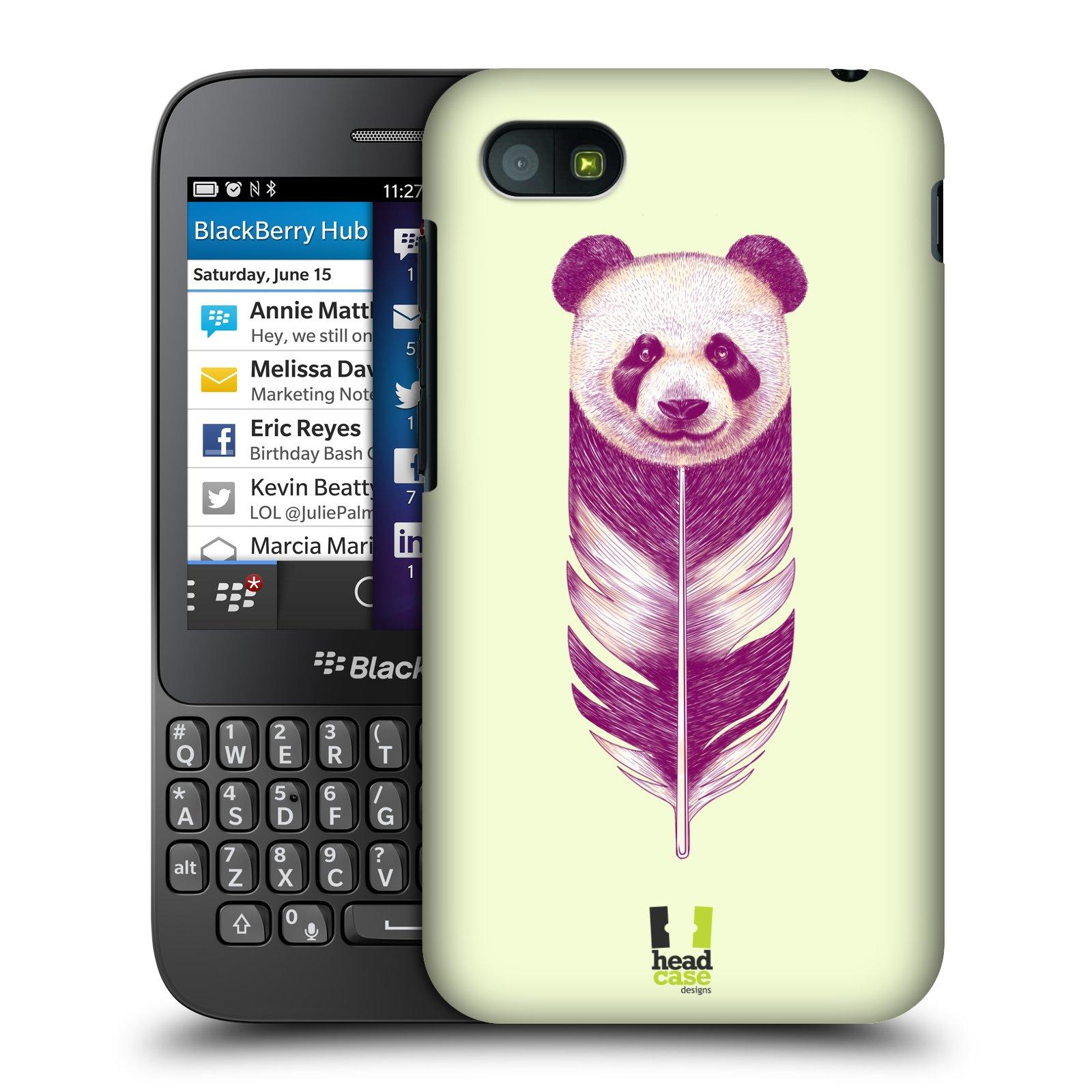 Plastové pouzdro na mobil Blackberry Q5 HEAD CASE PÍRKO PANDA (Kryt či obal na mobilní telefon Blackberry Q5)