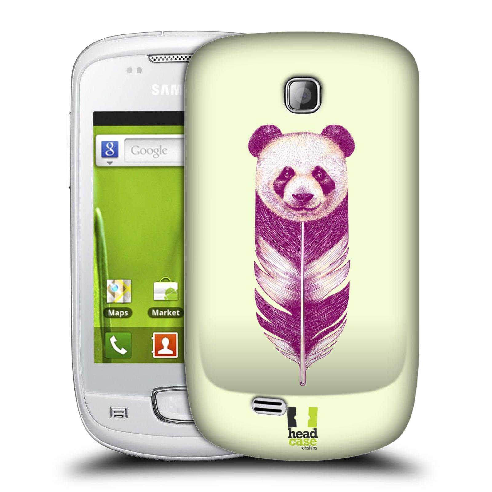 Plastové pouzdro na mobil Samsung Galaxy Mini HEAD CASE PÍRKO PANDA (Kryt či obal na mobilní telefon Samsung Galaxy Mini GT-S5570 / GT-S5570i)