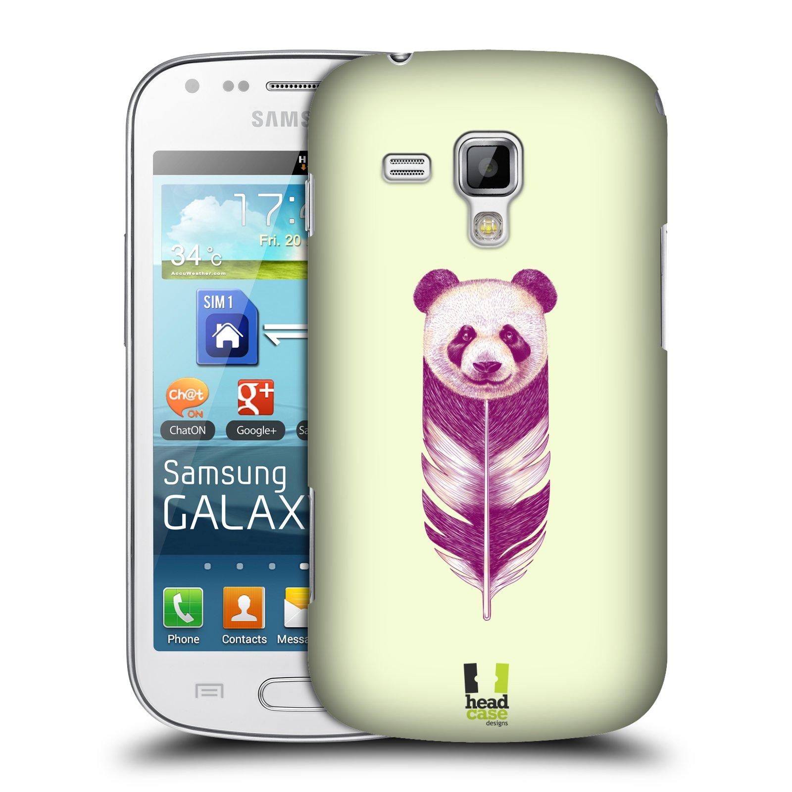 Plastové pouzdro na mobil Samsung Galaxy S Duos HEAD CASE PÍRKO PANDA (Kryt či obal na mobilní telefon Samsung Galaxy S Duos GT-S7562)