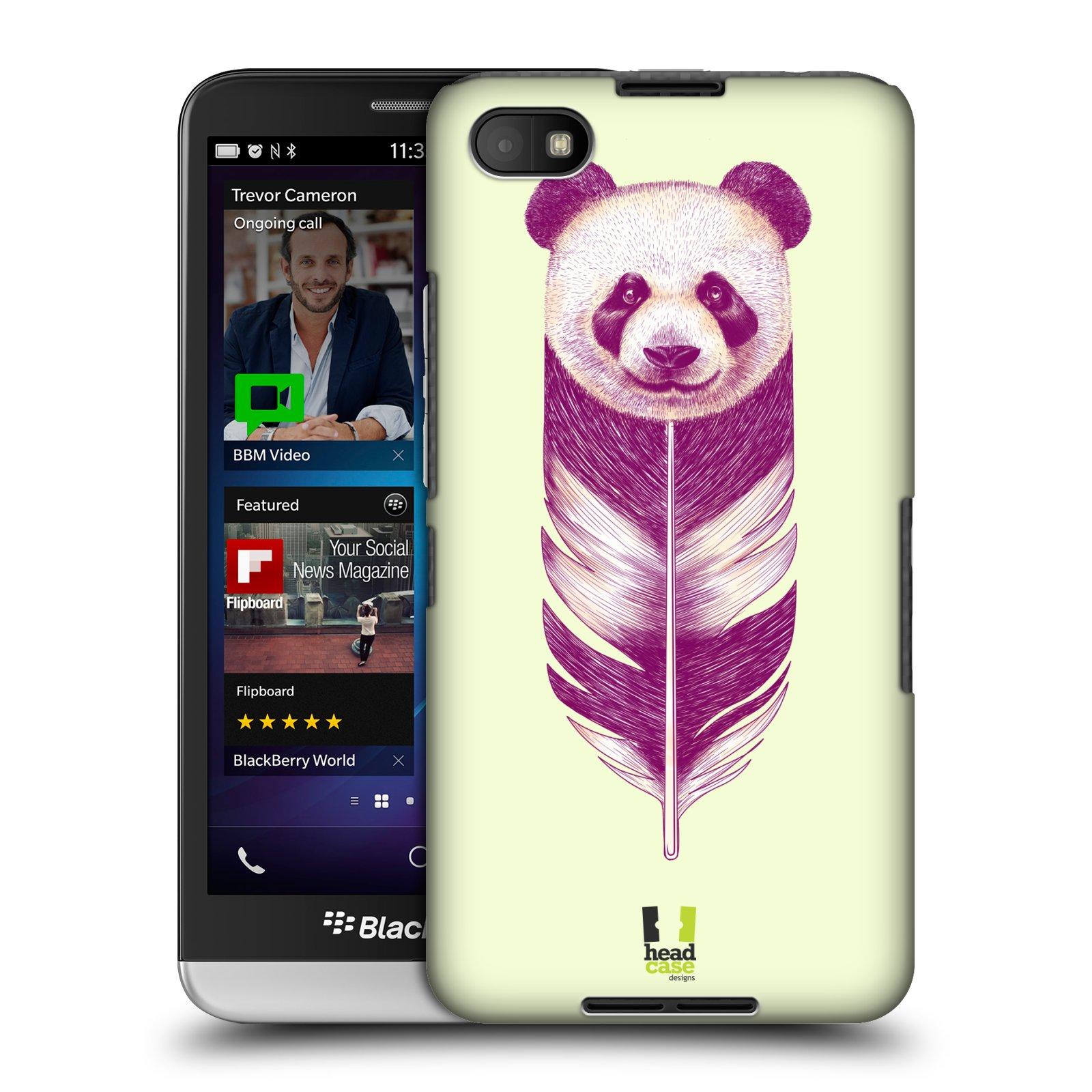 Plastové pouzdro na mobil Blackberry Z30 HEAD CASE PÍRKO PANDA (Kryt či obal na mobilní telefon Blackberry Z30)