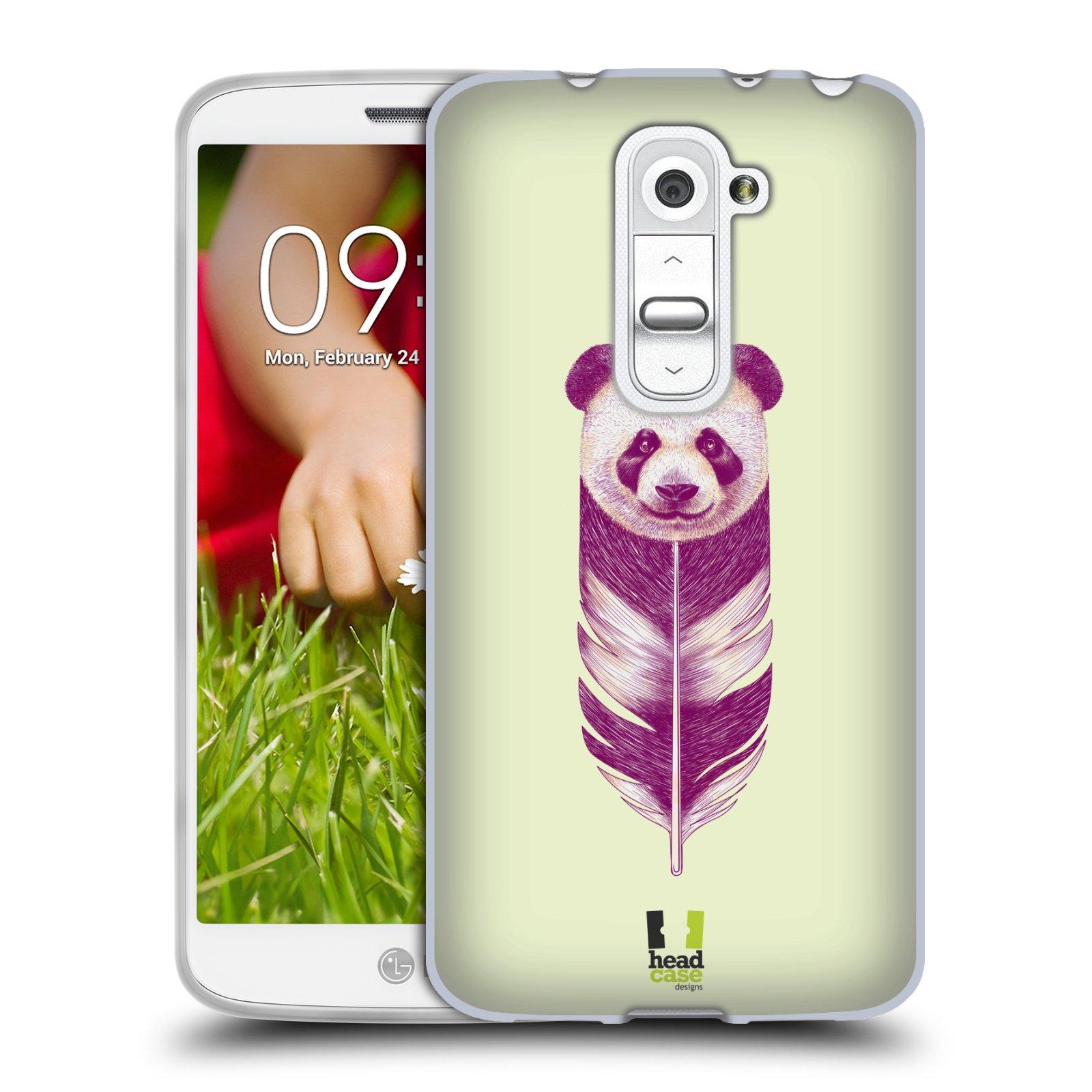 Silikonové pouzdro na mobil LG G2 Mini HEAD CASE PÍRKO PANDA (Silikonový kryt či obal na mobilní telefon LG G2 Mini D620)