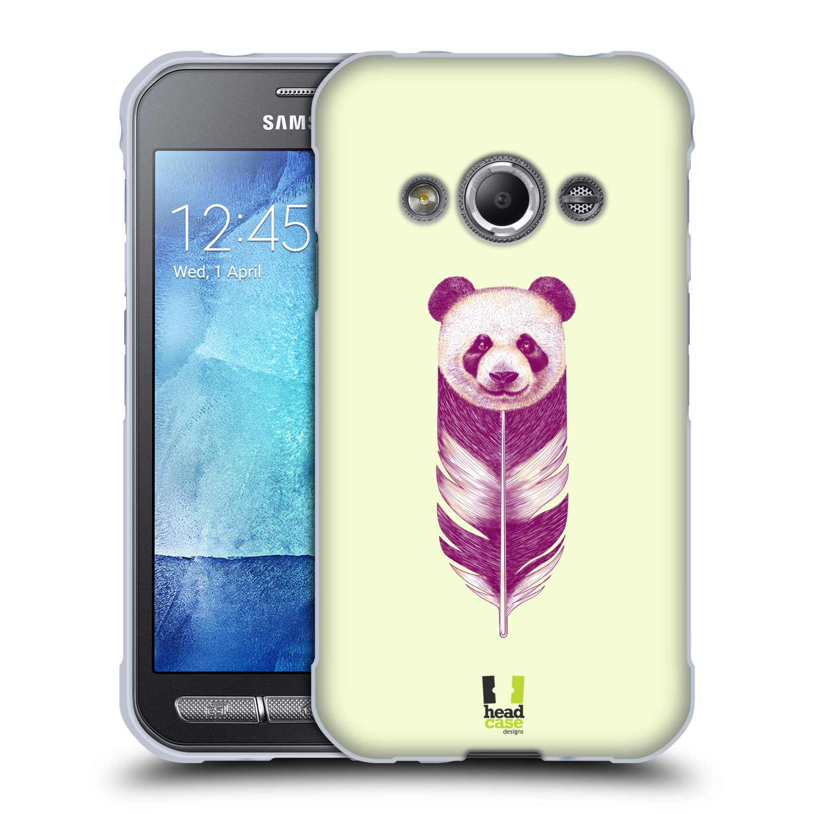 Silikonové pouzdro na mobil Samsung Galaxy Xcover 3 HEAD CASE PÍRKO PANDA (Silikonový kryt či obal na mobilní telefon Samsung Galaxy Xcover 3 SM-G388F)
