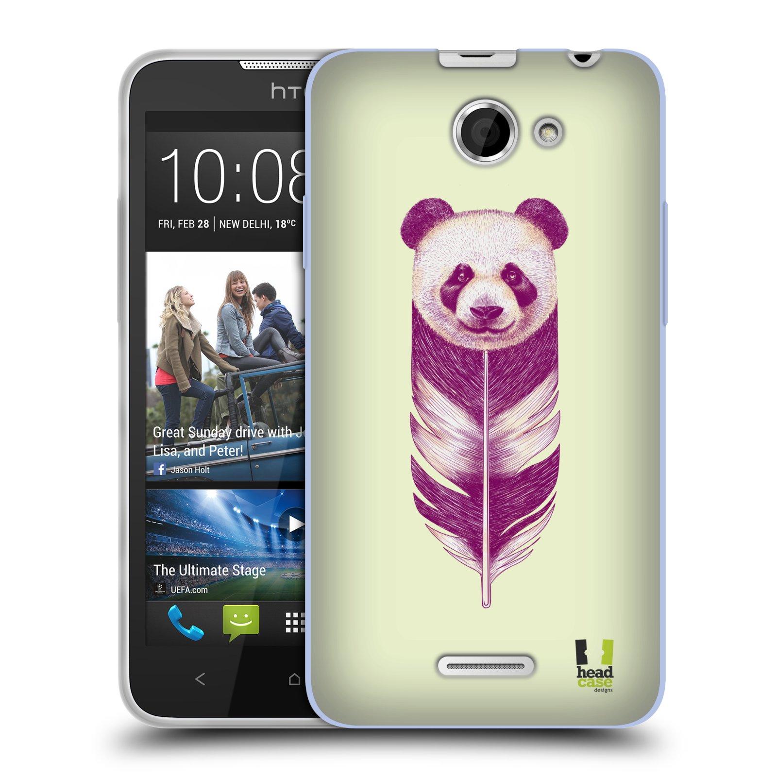 Silikonové pouzdro na mobil HTC Desire 516 HEAD CASE PÍRKO PANDA (Silikonový kryt či obal na mobilní telefon HTC Desire 516 Dual SIM)