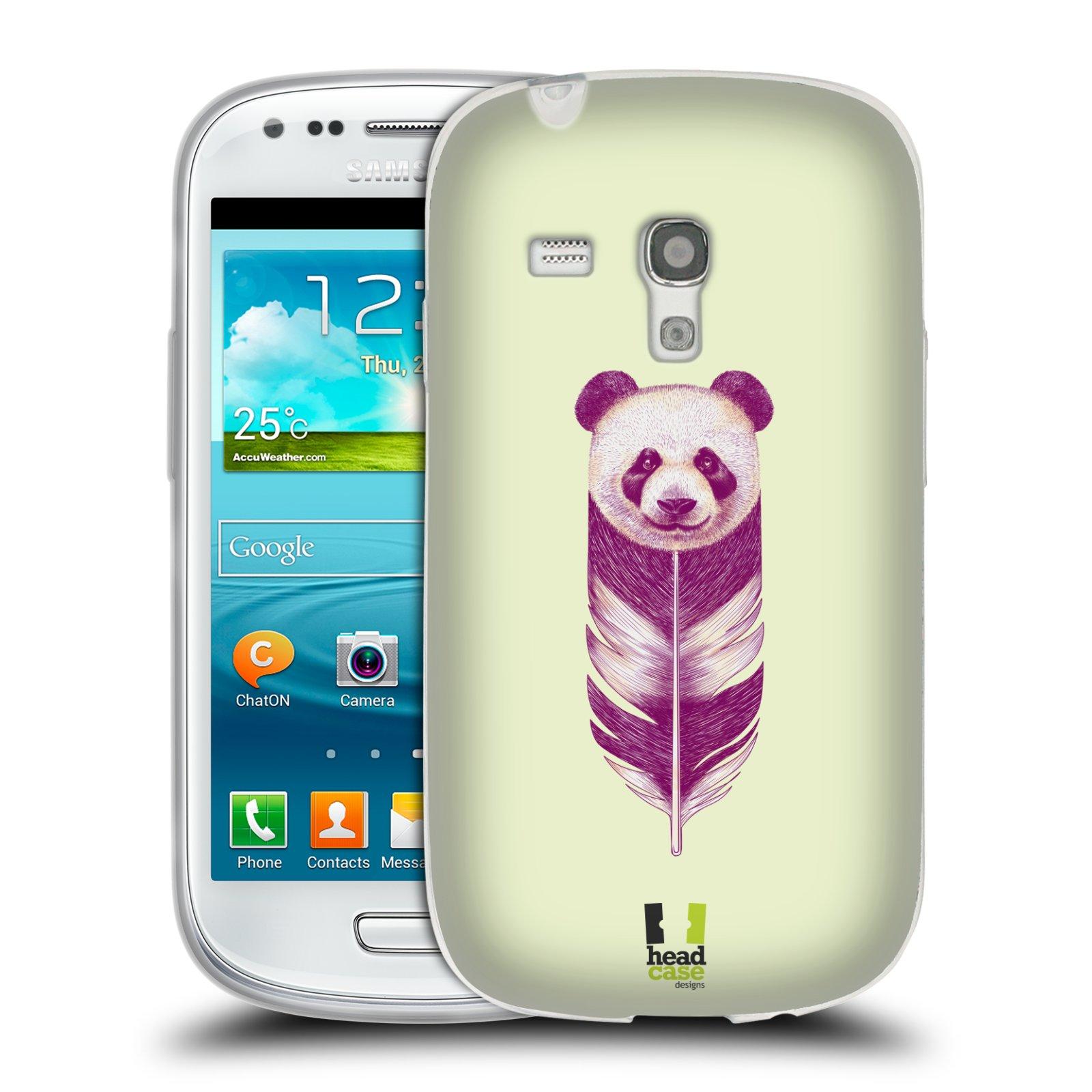 Silikonové pouzdro na mobil Samsung Galaxy S III Mini HEAD CASE PÍRKO PANDA (Silikonový kryt či obal na mobilní telefon Samsung Galaxy S III Mini GT-i8190)